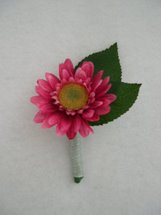 Pink Gerbera Daisy Boutonniere - Minneapolis Silk Florist