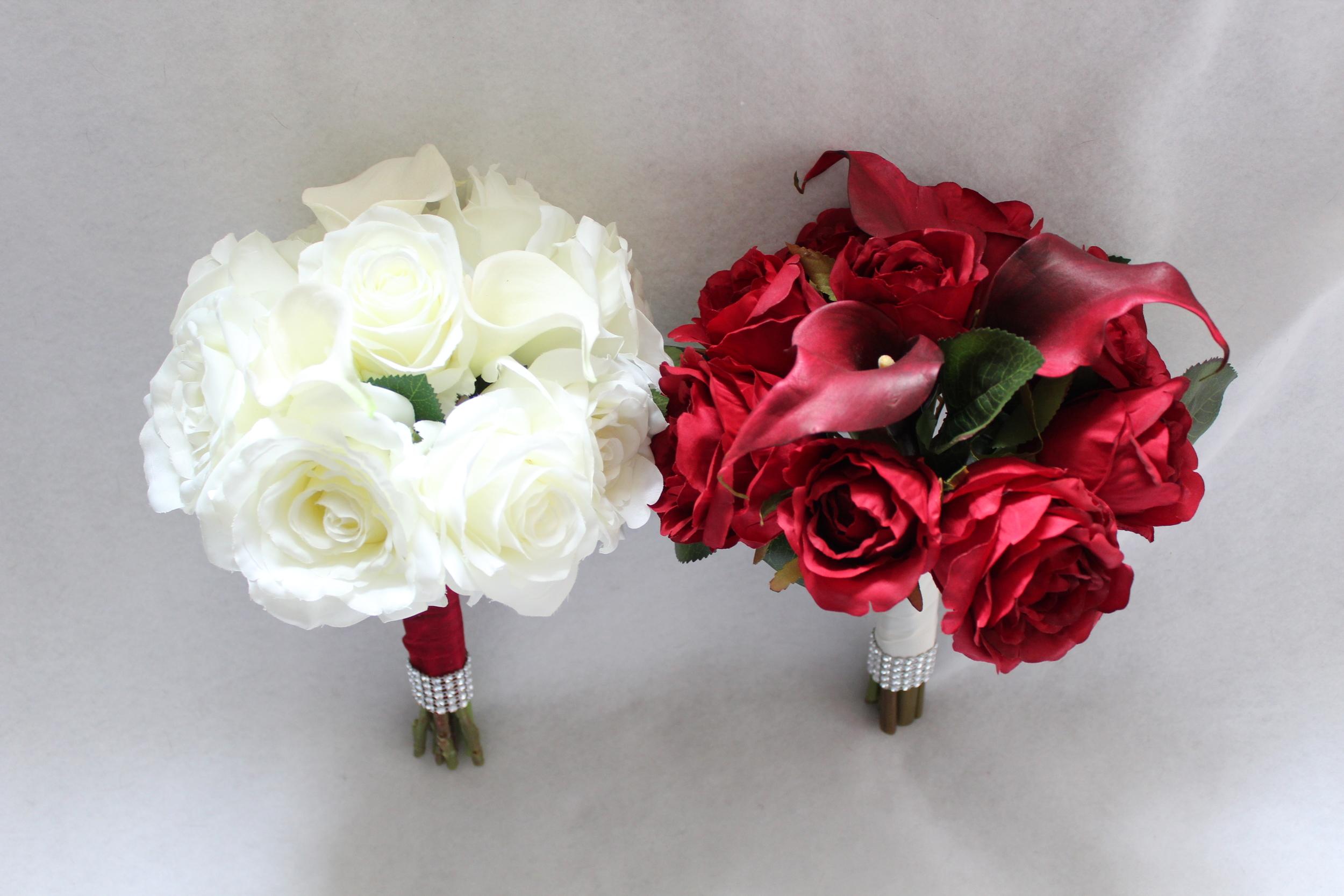minneapolis-silk-florist-white-bouquet-and-red-bouquet-for-bridesmaids.jpg