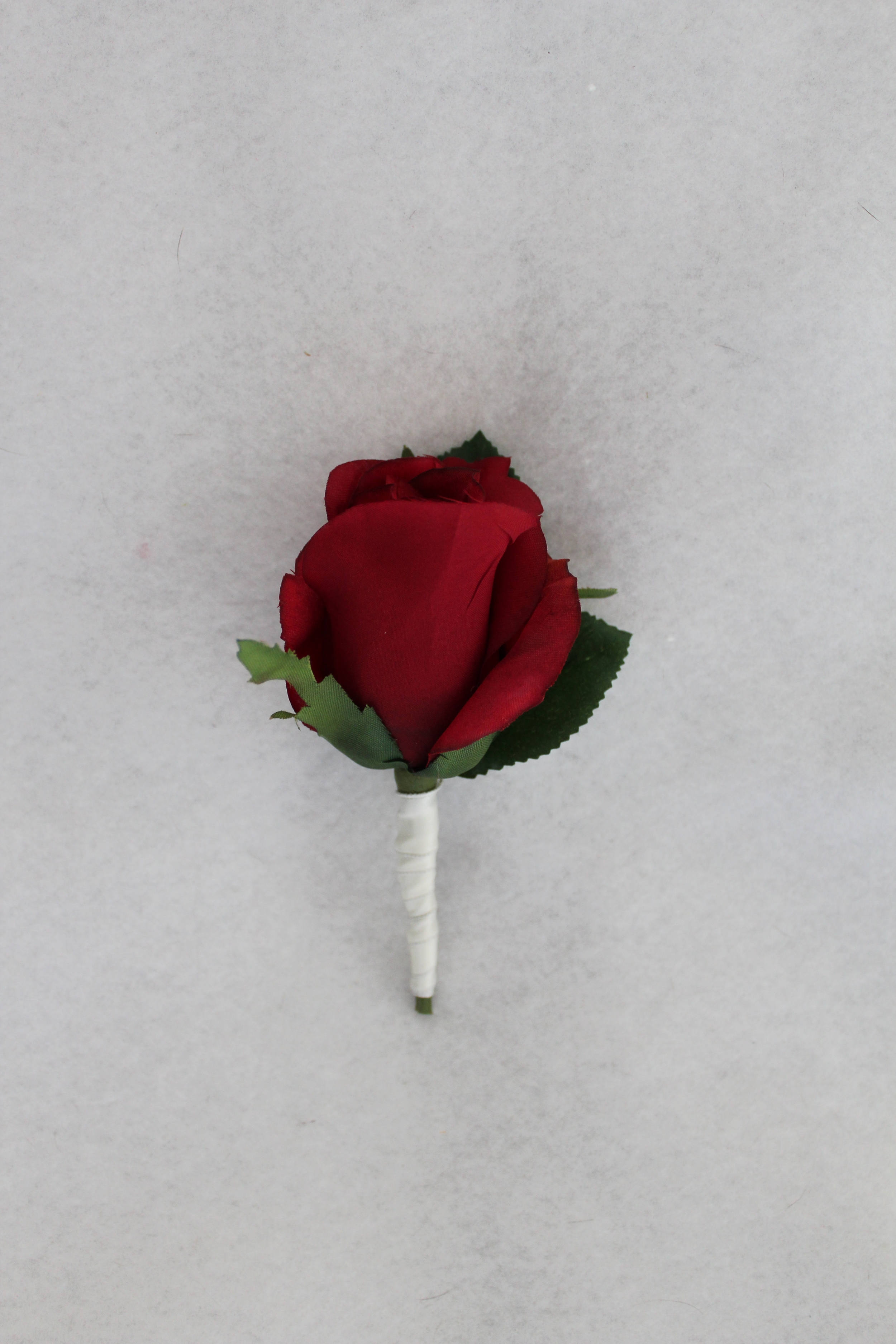 Red and White Boutonniere
