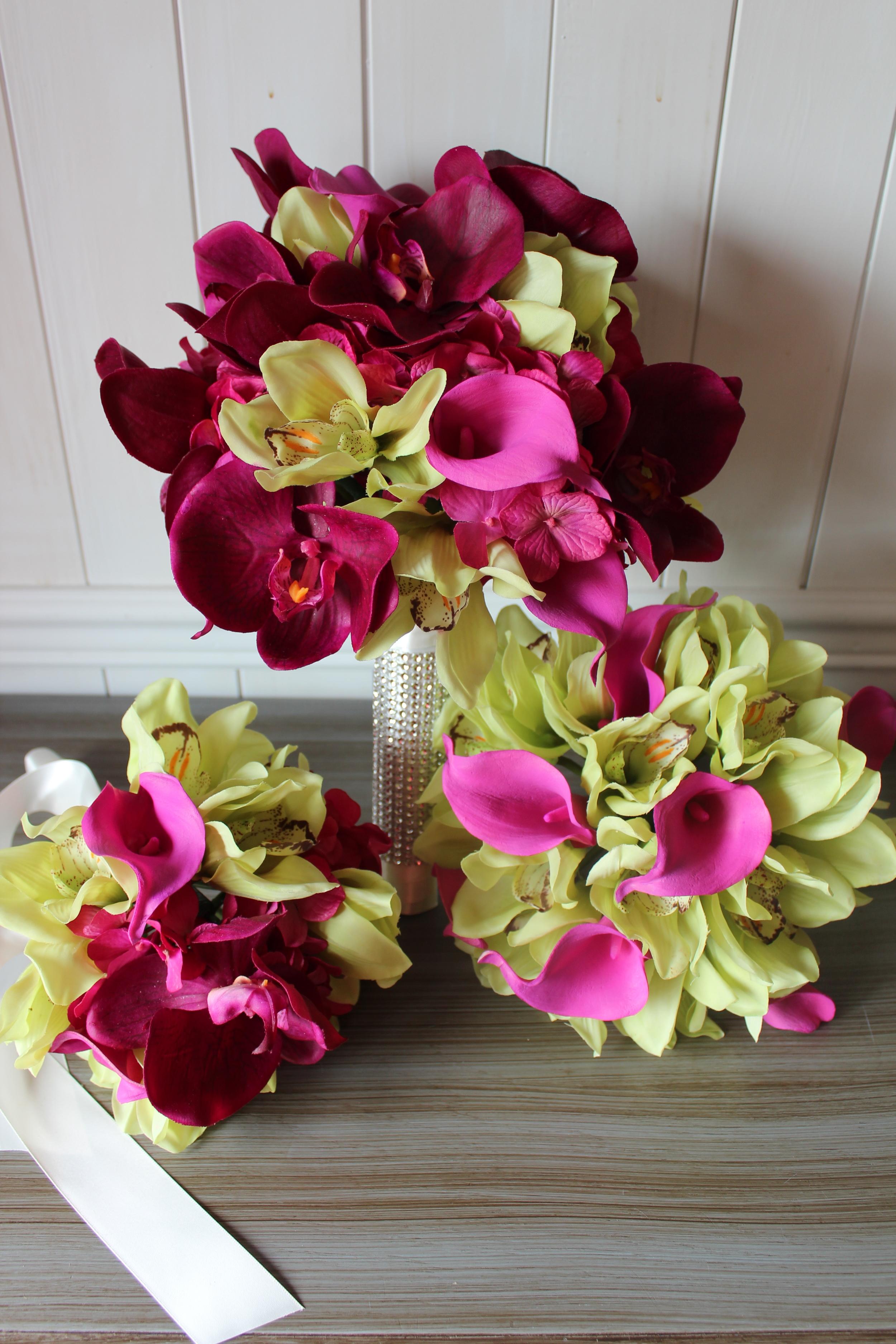 Destination Wedding Bridal Bouquet, Bridesmaid Bouquet, Toss Bouquet