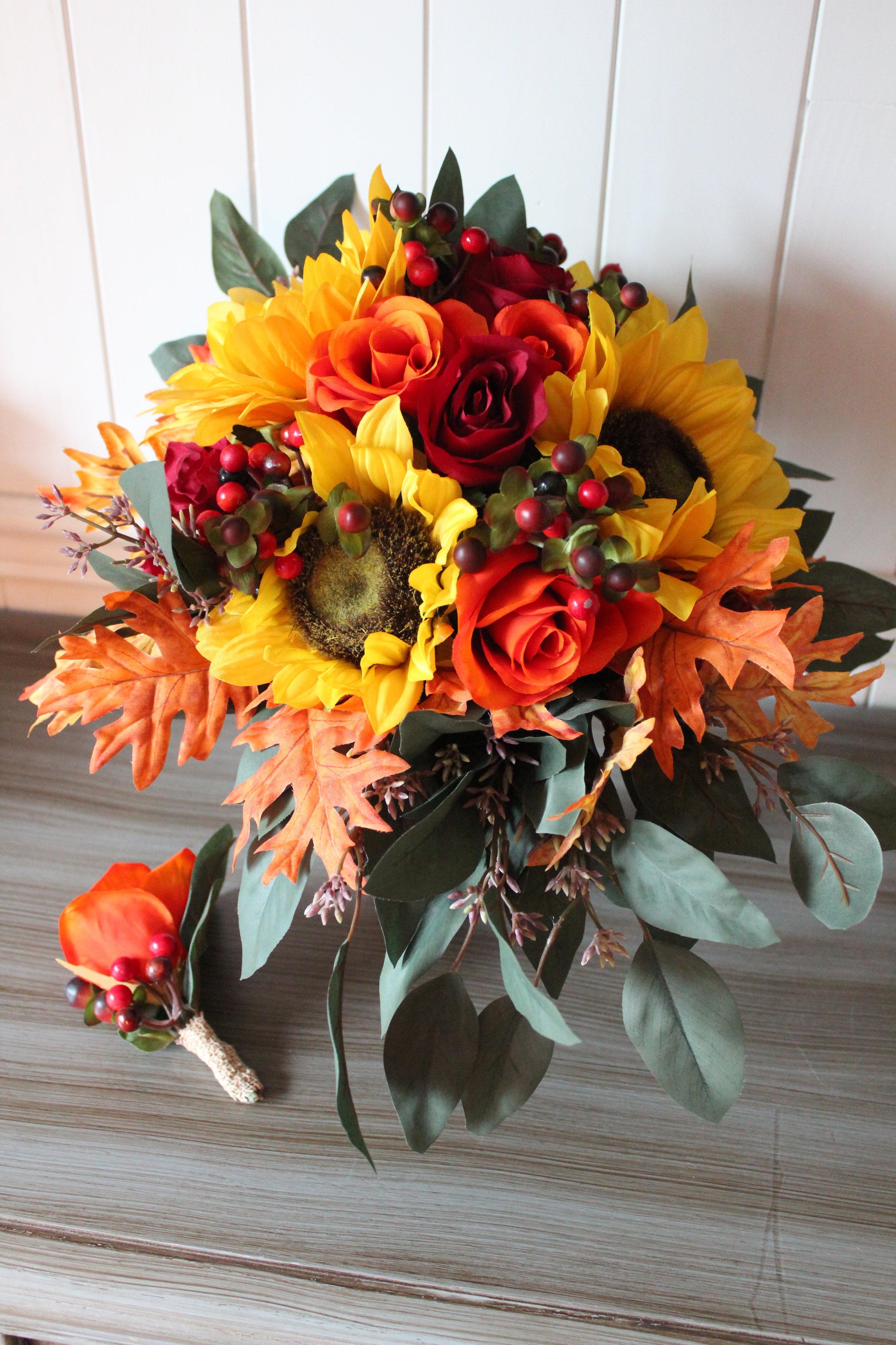 fall-wedding-bouquet-recreation-boutonniere-cake-topper-silk-flowers.jpg
