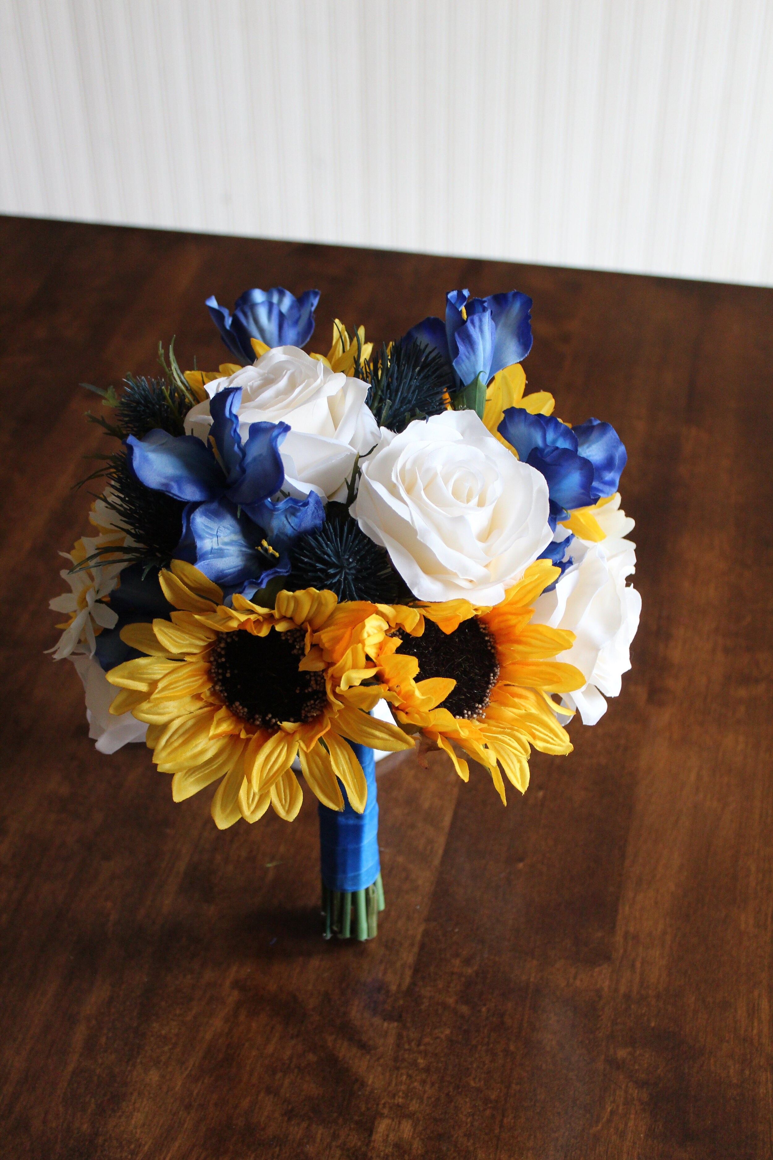 Amazon Com Wedding Bouquet Flowers Bridal Silk 17 Piece Package