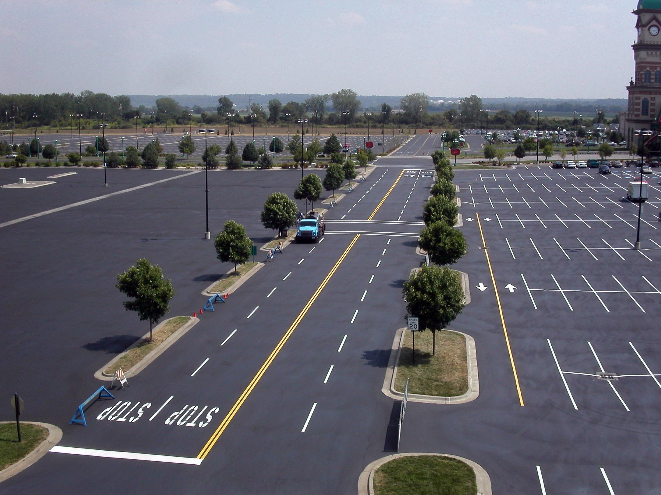 sealer large parking lot