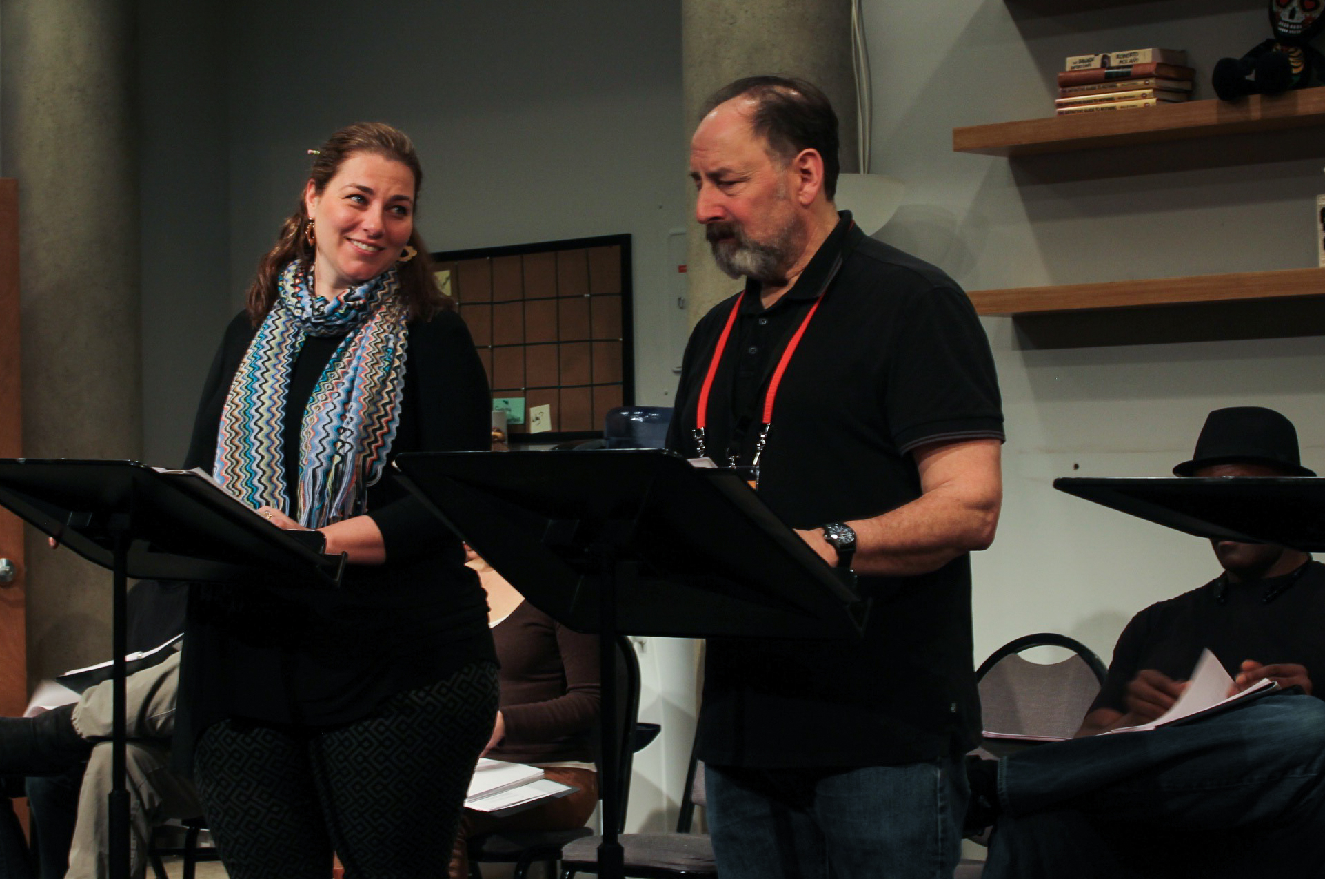 Susan Shay & Arye Gross as Rebecca & John Heminges