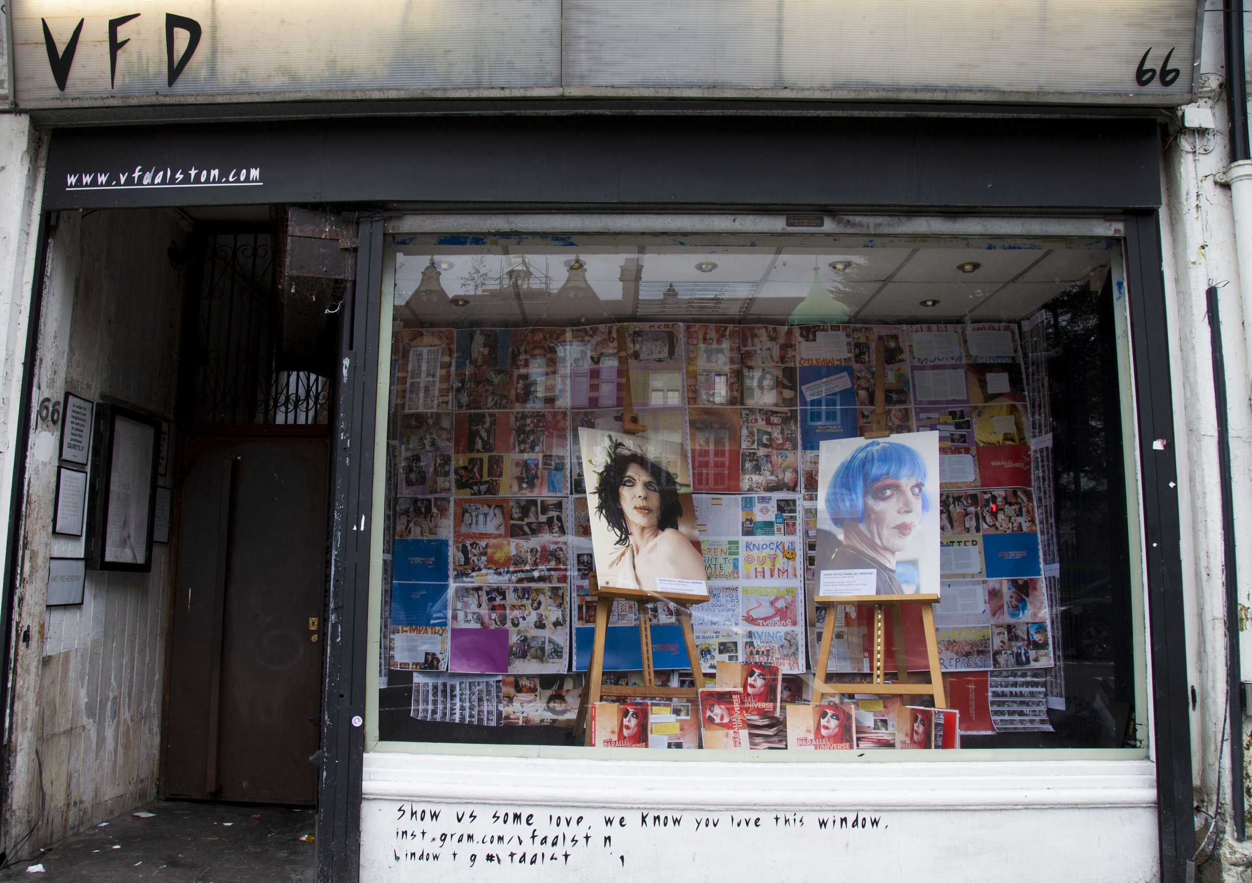 Look who's in the window of VFD! We'll be there for a month - this is a bit of a preview of the book with unseen run sheets and images from it.