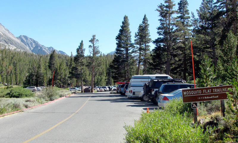 "Parking Lot at ""Mosquito Flat"" Trailhead"