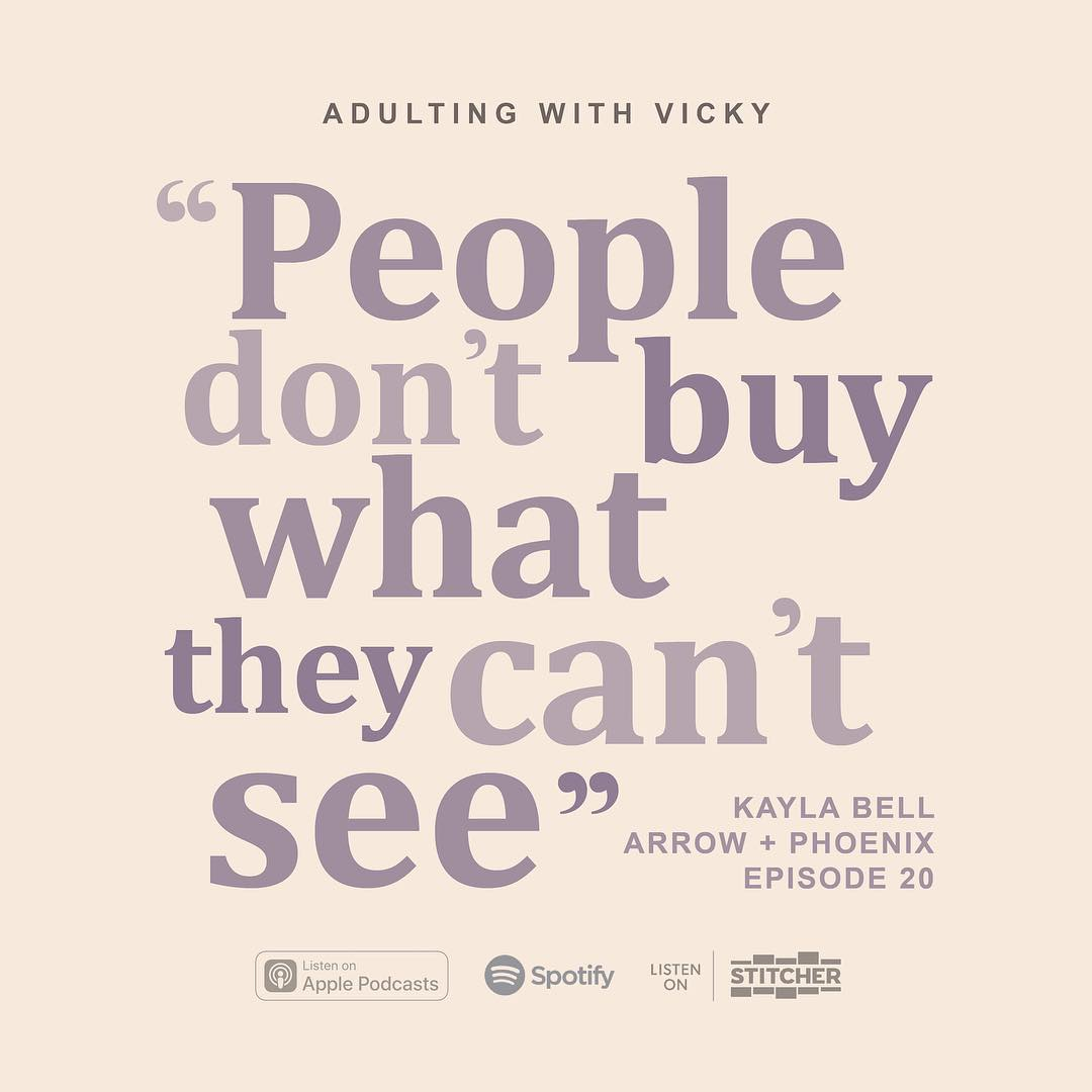 Adulting With Vicky Podcast - Kayla Bell speaks on her industry experience, building a company while still a teenager, and so much more!