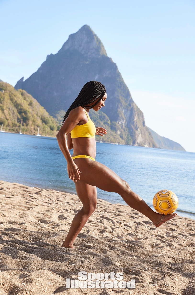 sports illustrated swimwear 2019 - We're still on cloud nine as we have the pleasure of being one of the featured brands in this year's swimwear edition of the magazine's issue. Our Harper top + Taina bottoms in the color Canary Island are worn by US Women's Soccer Team player, Crystal Dunn. For more information or to buy this year's issue, click here!