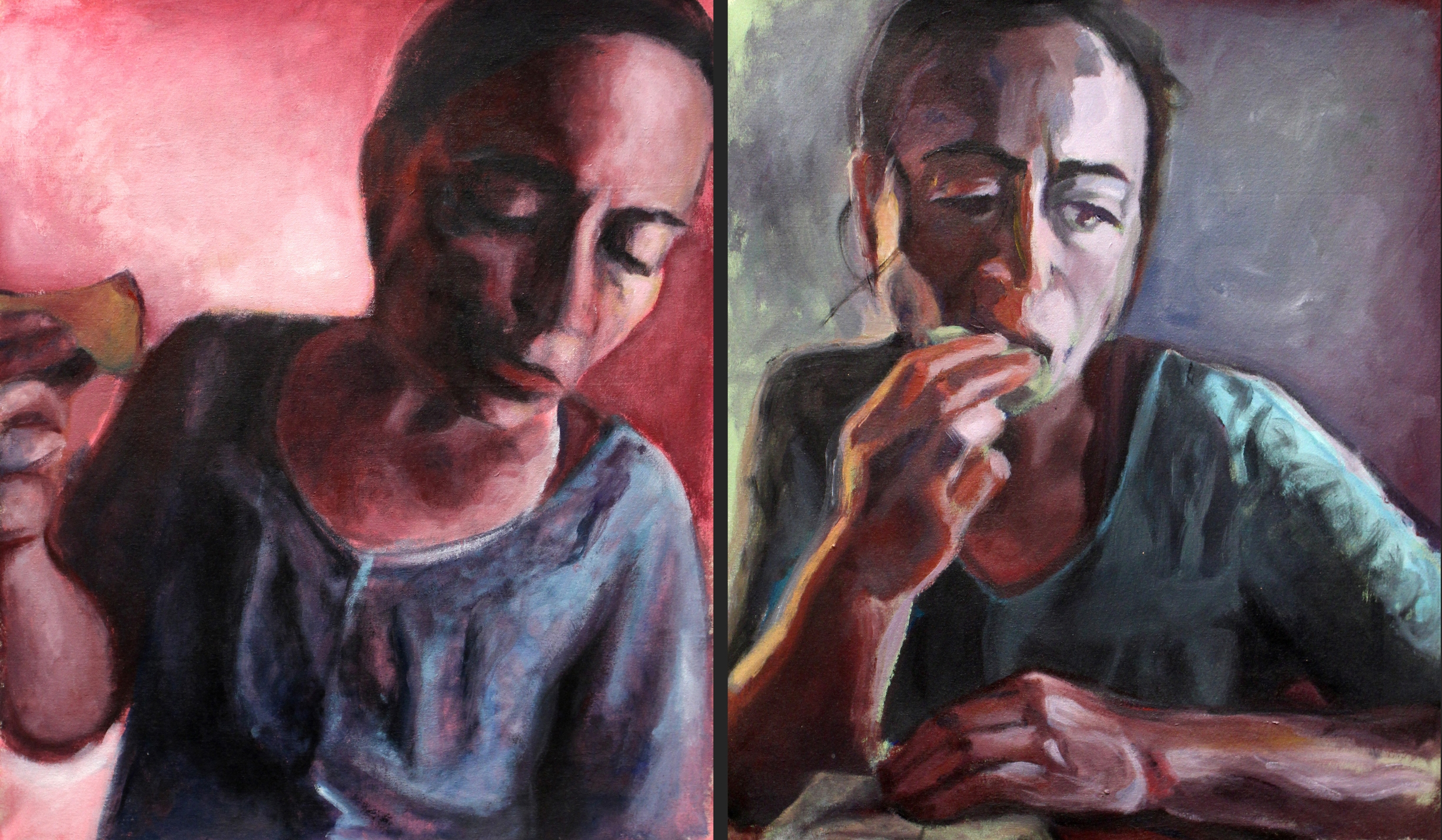 Mom Diptych © 2015 Zoe Hall