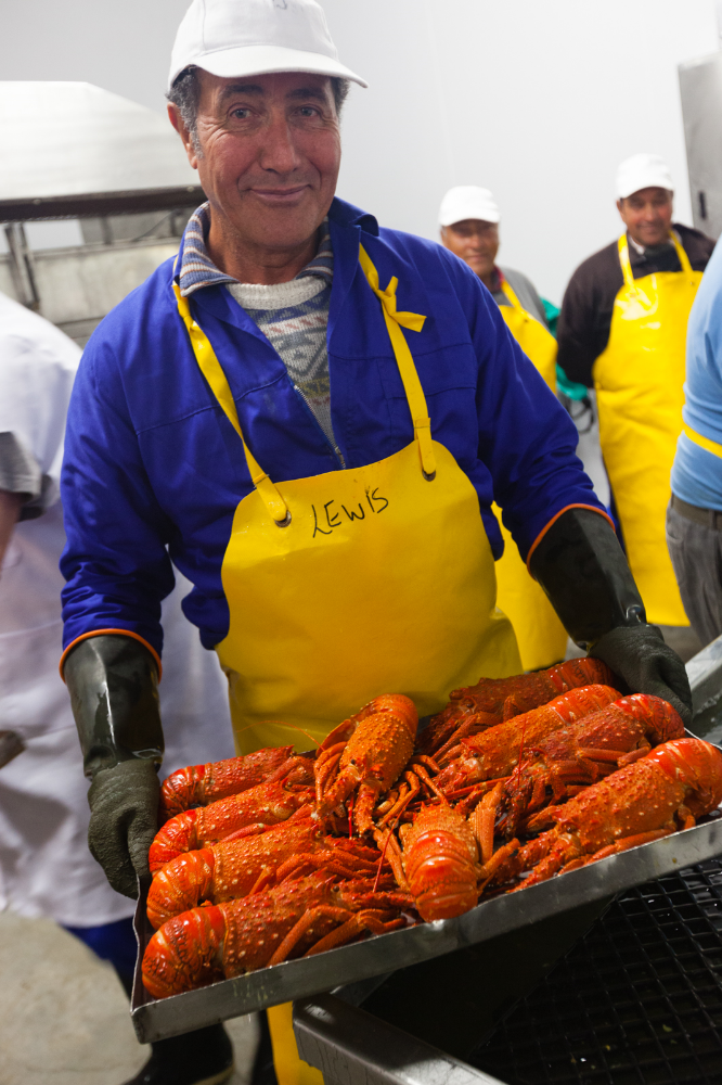 Lobstermen on Tristan. Credit: Andy Isaacson