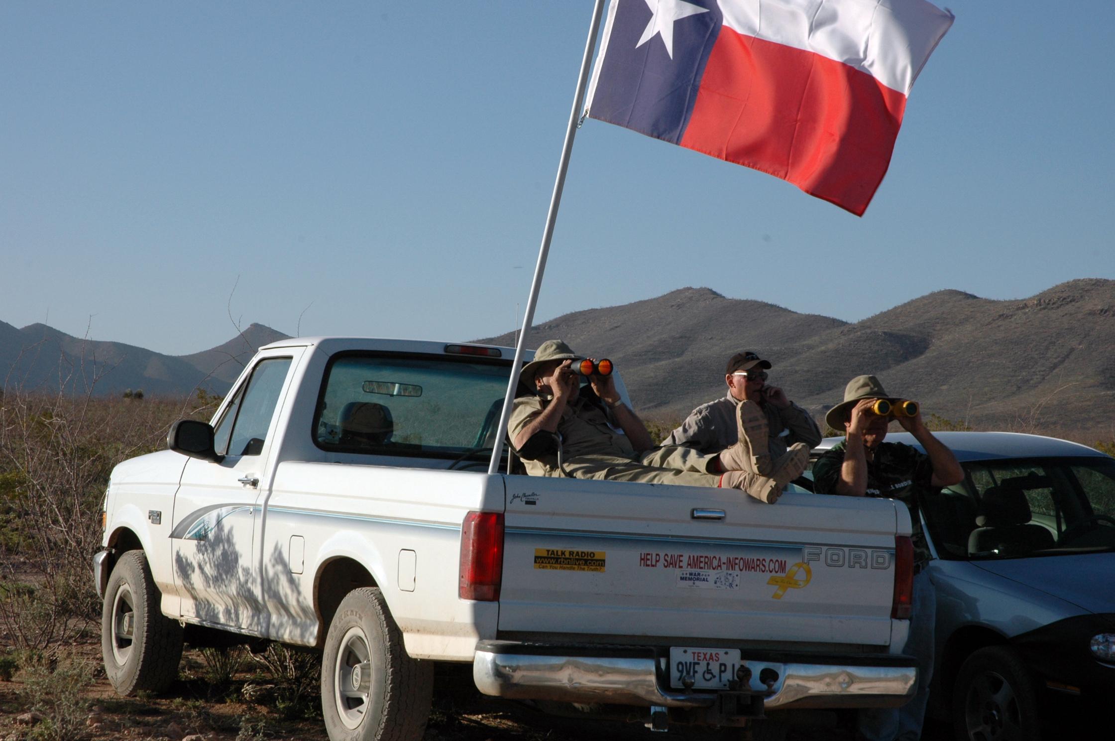 Vigilantes on the border. Credit: Andy Isaacson