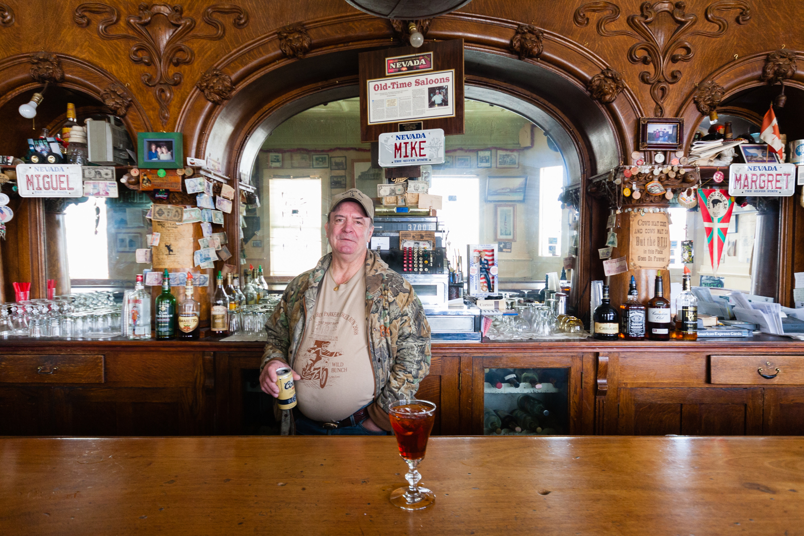 Bartender in  Winnemucca, Nevada. Credit: Andy Isaacson