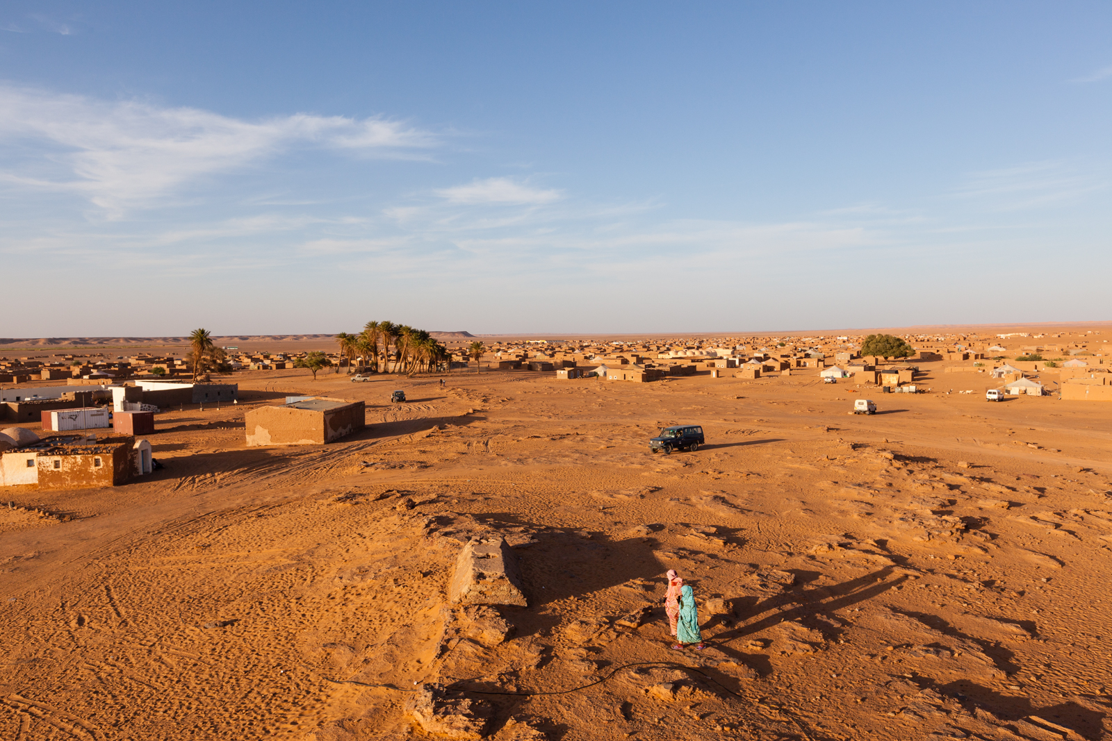 Some 180,000 Saharawis, a Muslim people of Arab and Berber descent, live scattered in camps along Algeria's border with Mauritania, exiles of a long struggle with Morocco over Western Sahara. Credit: Andy Isaacson