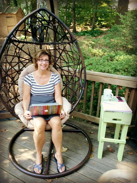 After years of wishing for this chair, my family surprised me with it for my birthday in early August. I have spent hours and hours and hours in it since then, getting so much work done! I call it my office (phone, notebook, coffee all nearby, it's totally an office!)