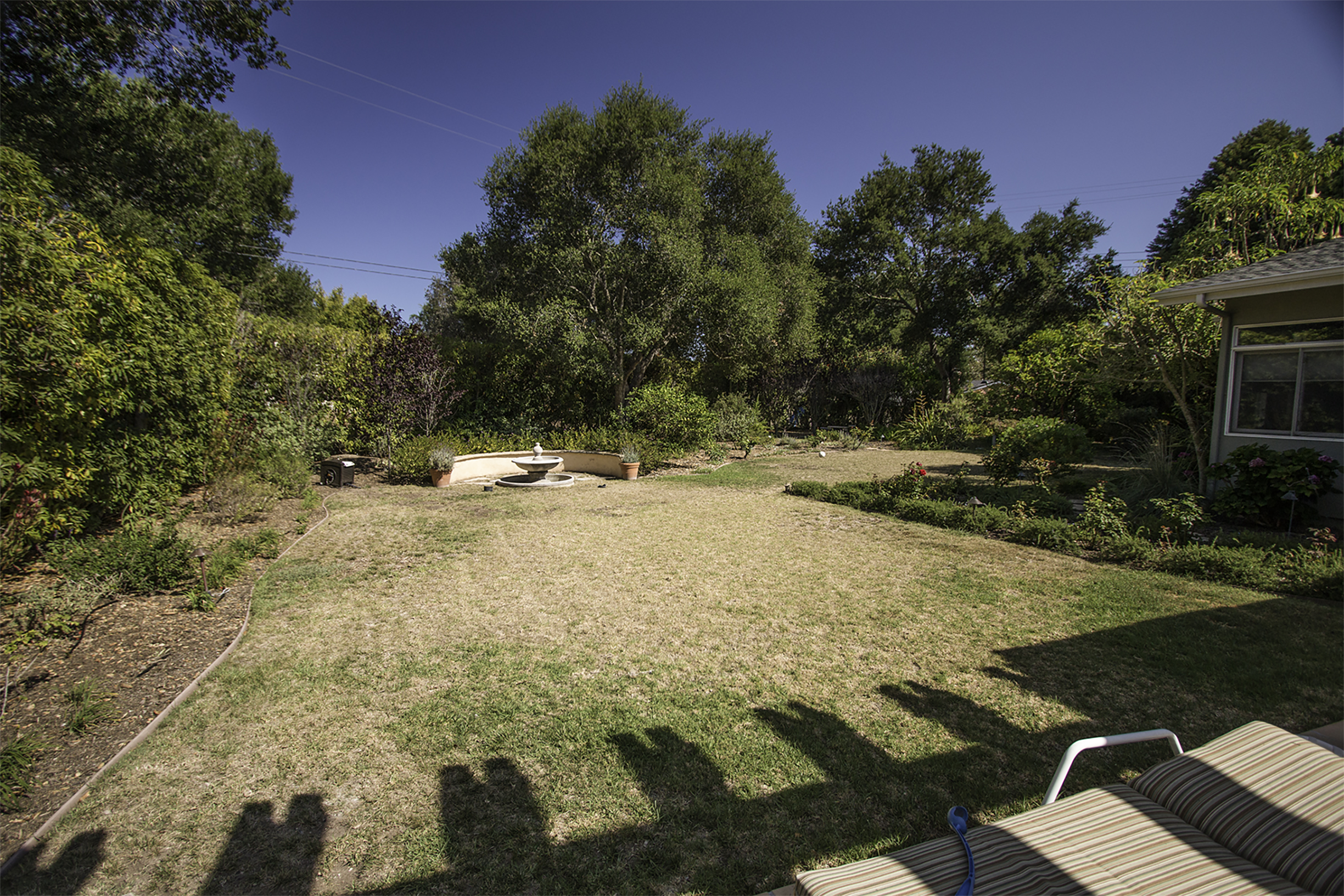 Before design: San Roque lawn as camera saw it.