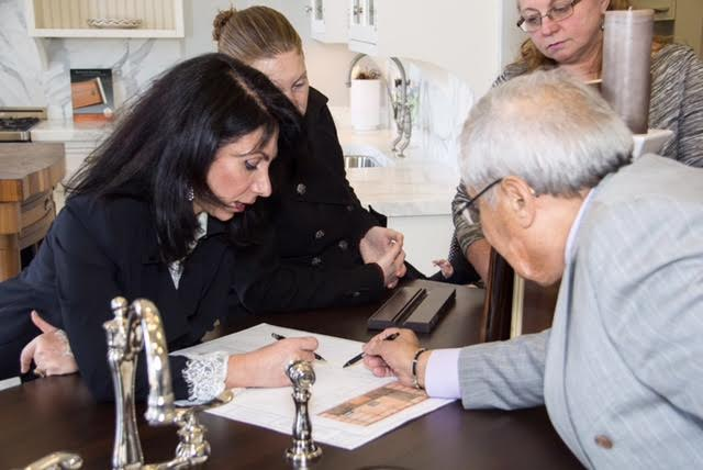 """Home Design Appraisal Tuesdays"" -The Elite/Express Team & Interior Designer Nadia Vee evaluate plans for local resident"