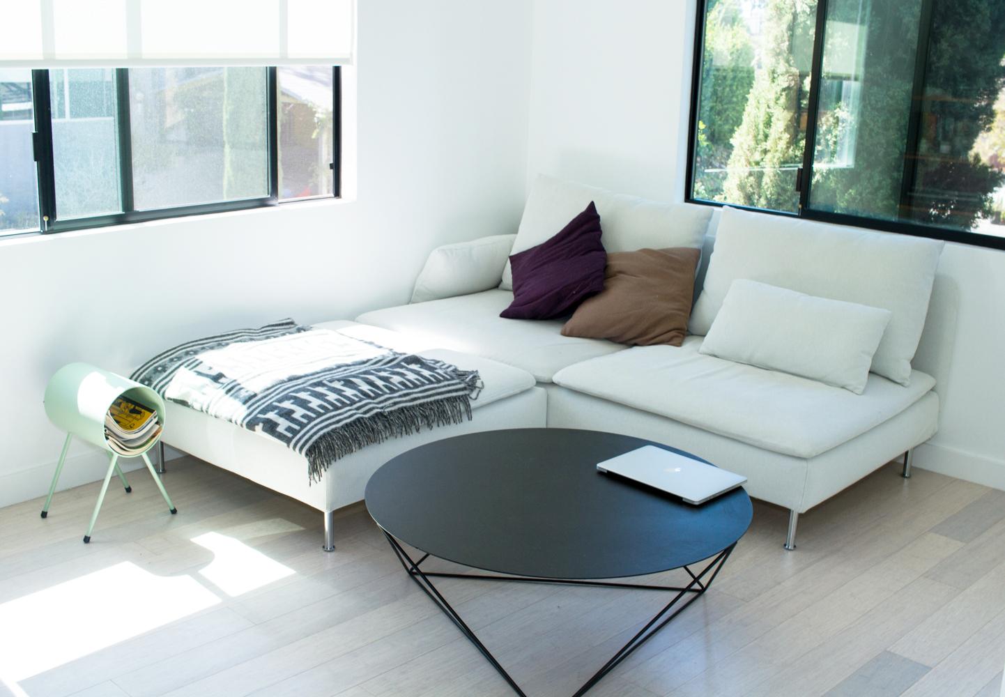 Coffee Table, Eric Trine    ;    Magazine Holder, Eric Trine    ;    Couch, Ikea