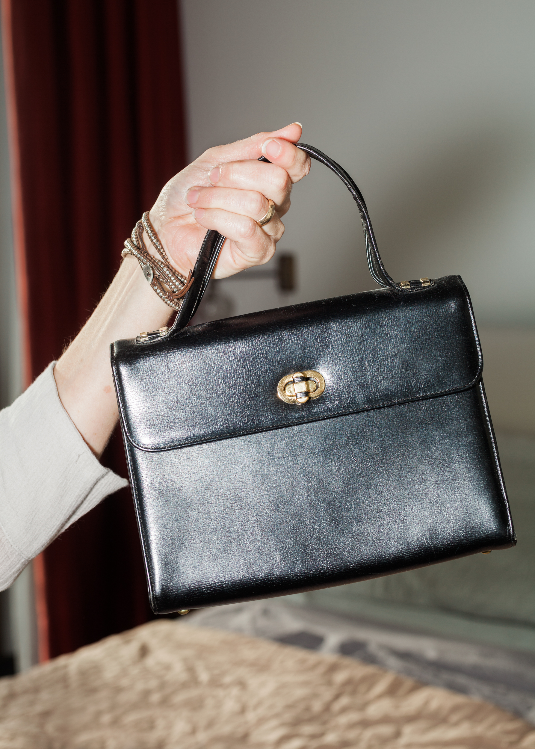 Bracelet, Chan Luu ; Bag, Vintage from Brooklyn Flea