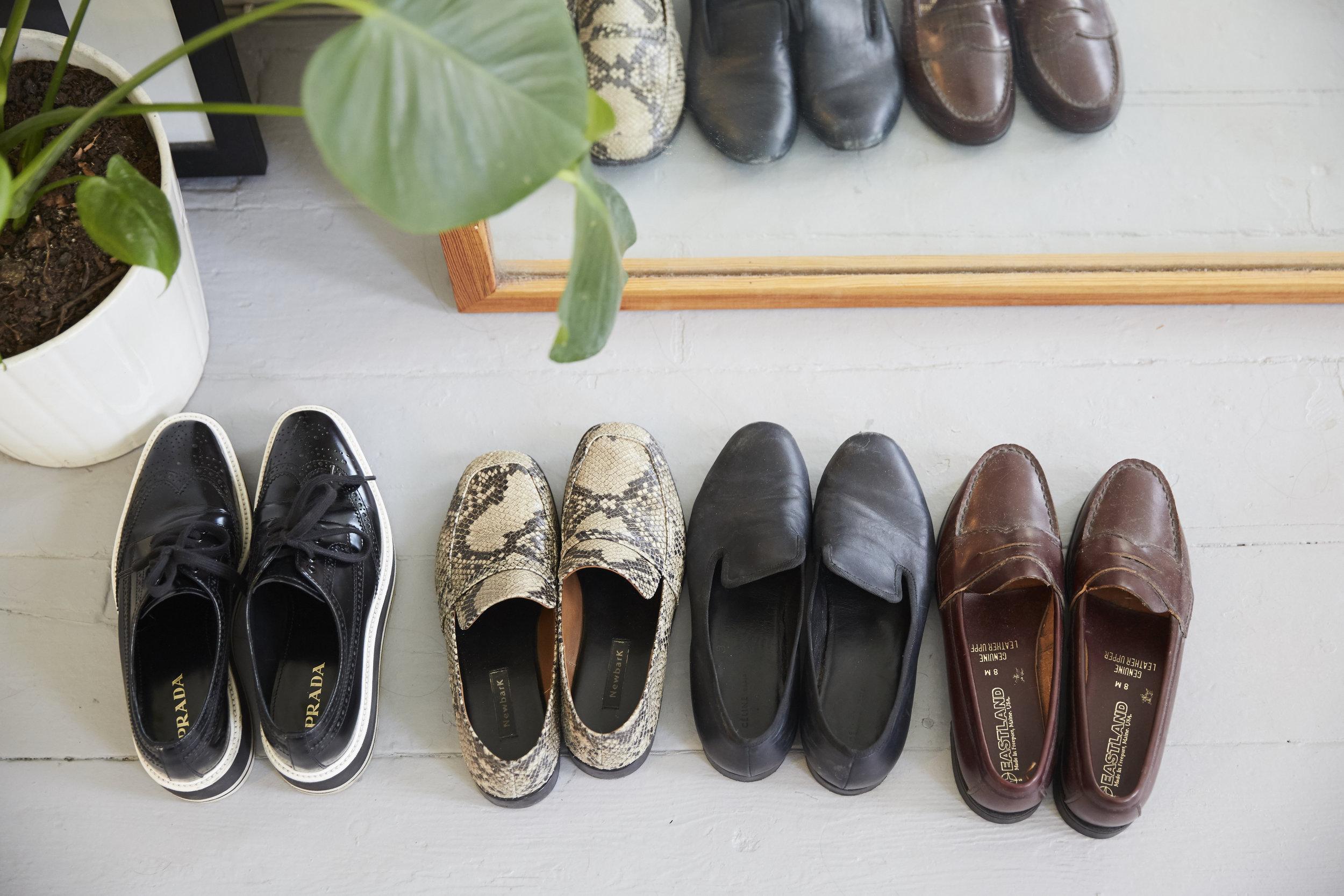 Shoes,    Prada    ;    NewbarK    ; Celine ; Vintage