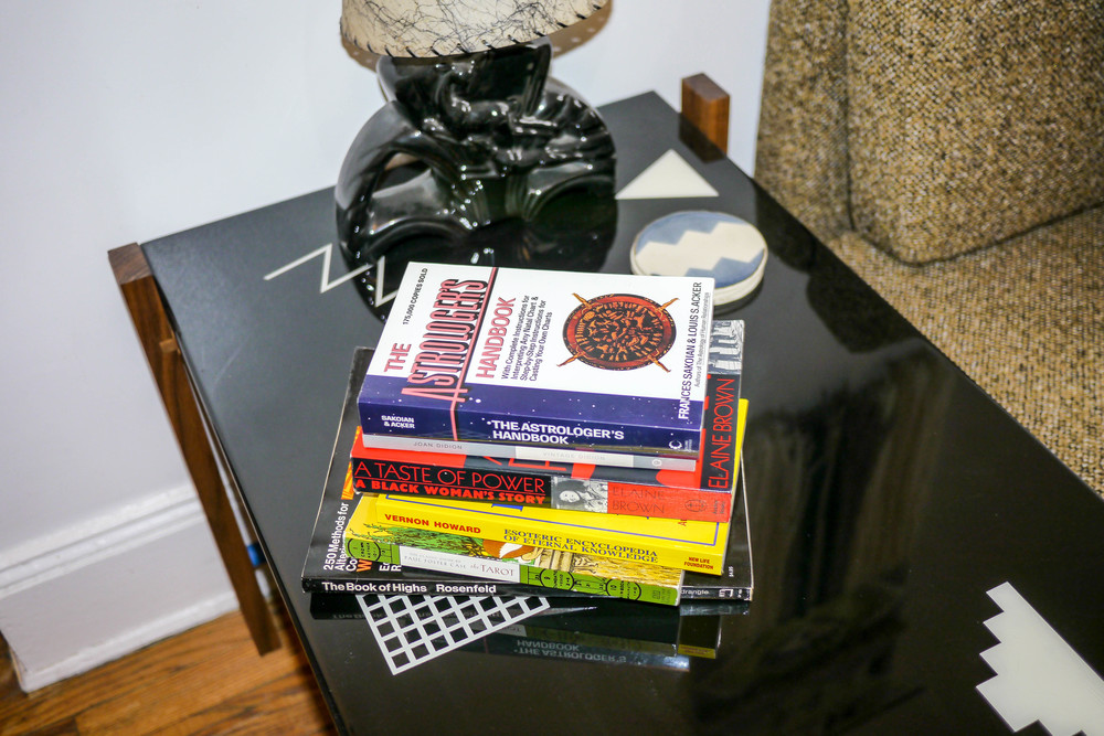 The Book of Highs   by Edward Rosenfeld,   A Taste of Power: A Black Woman's Story   by Elaine Brown,   The Tarot: A Key to the Wisdom of the Ages   by Paul Foster Case,   Vintage Didion   by Joan Didion,   Esoteric Encyclopedia of Eternal Knowledge   by Vernon Howard,   The Astrologer's Handbook   by Frances Sakoian