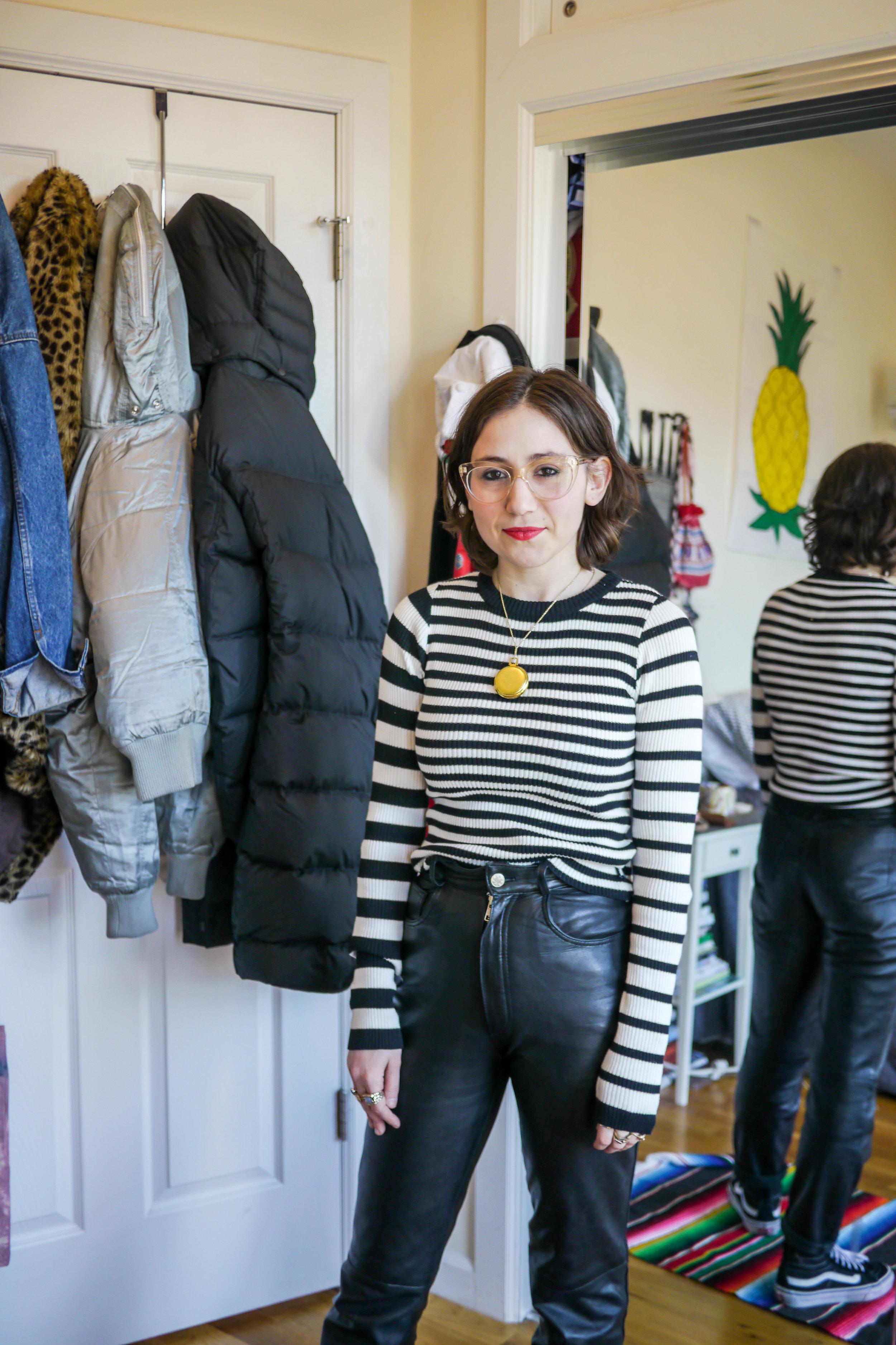 Outfit Details: Top, UNIF ; Pants, Vintage ;    Glasses, Warby Parker