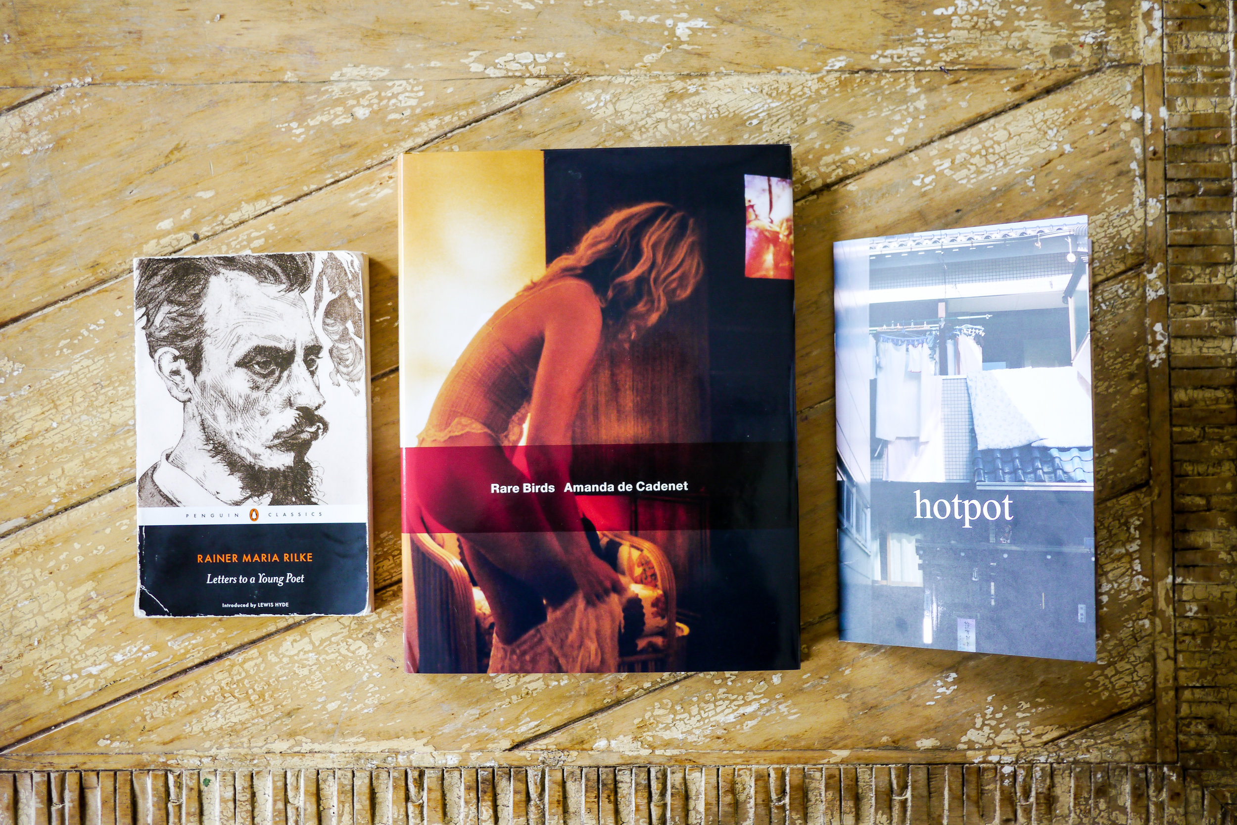 """Bianca's favorite books, and """"   hotpot   ,"""" a photo zine of her work"""