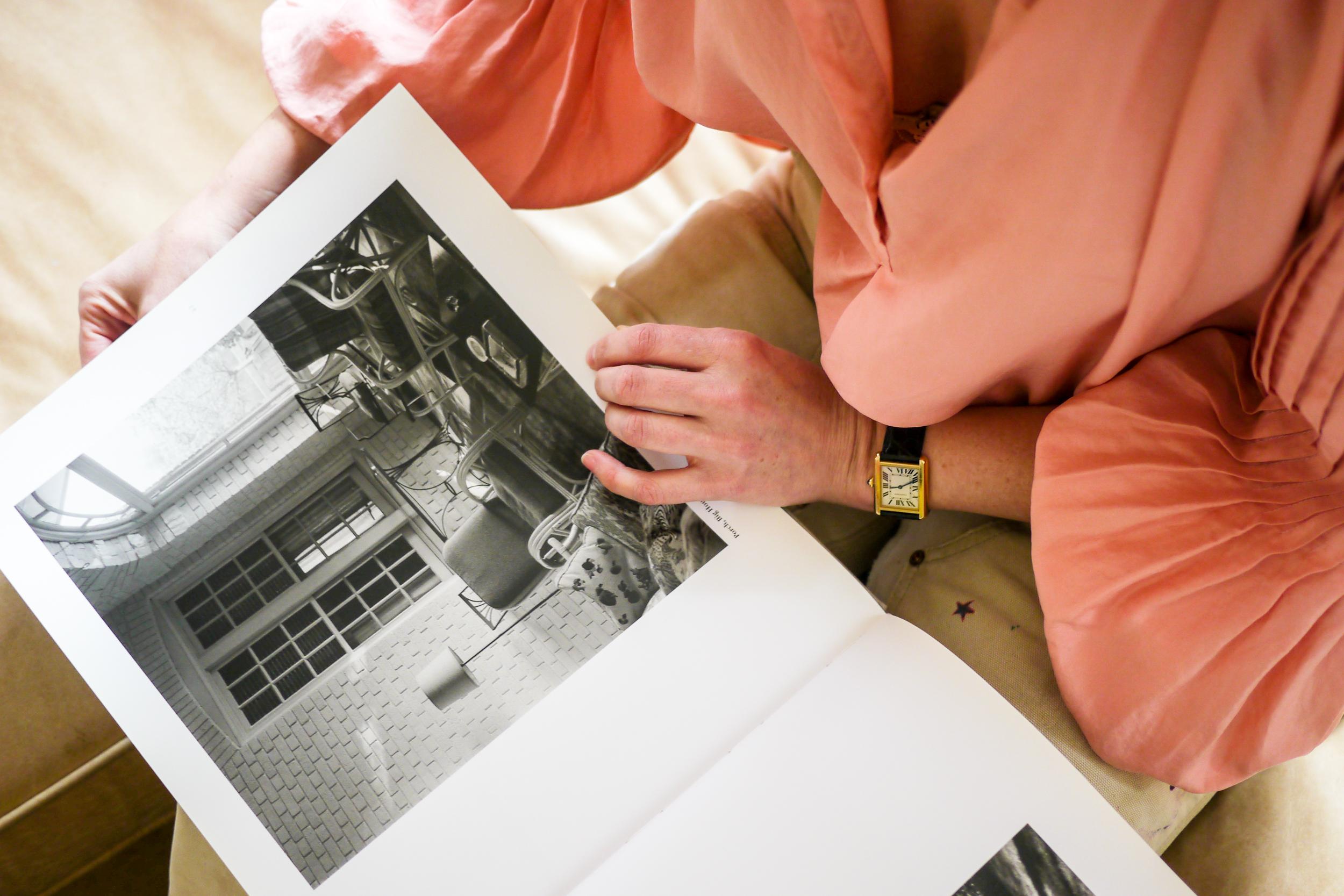 Outfit Details:    Shirt, APiece Apart   ;    Pants, Carhartt   ;    Watch, Cartier