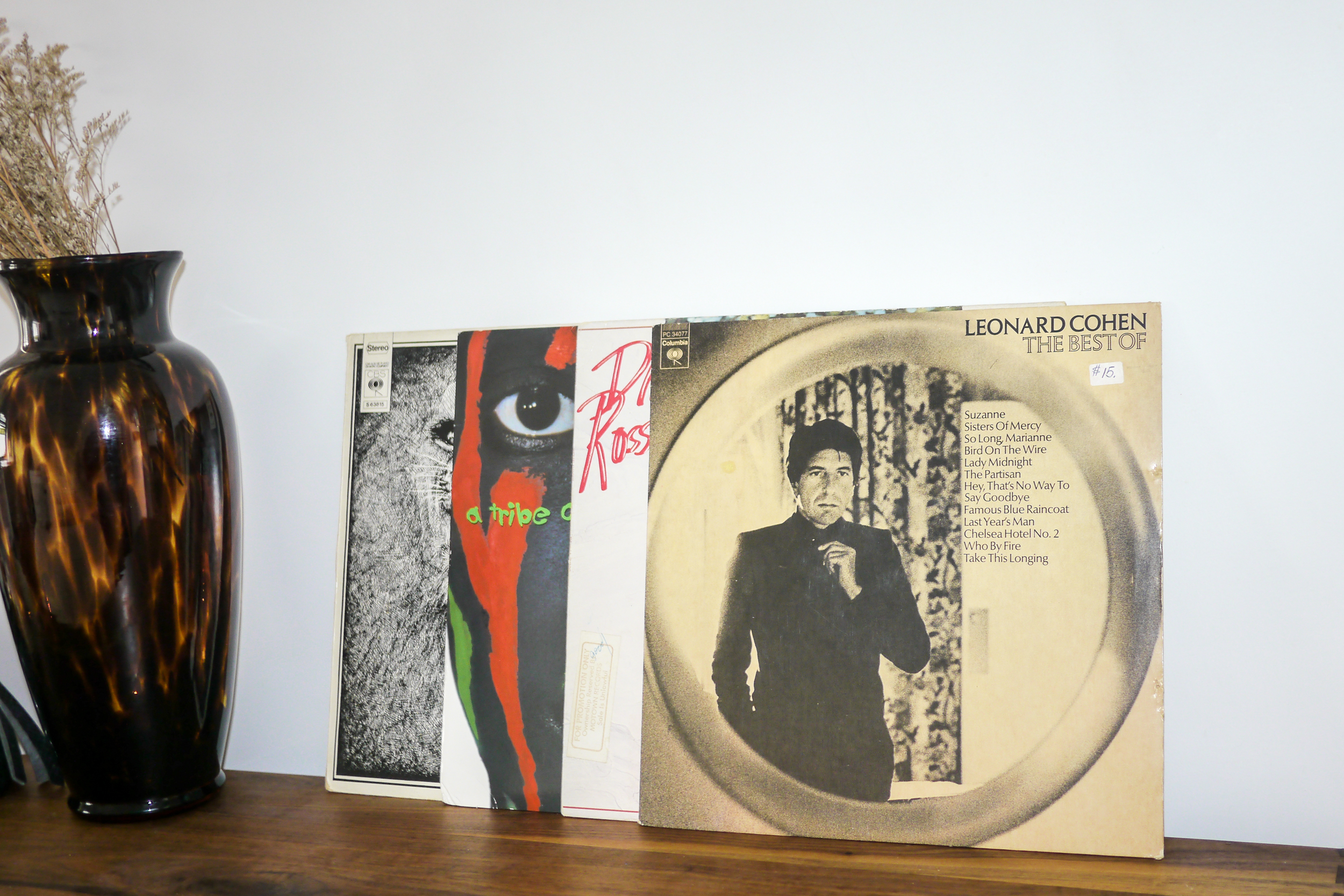 The Best of Leonard Cohen    ;    The Anthology by A Tribe Called Quest    ;    The Boss by Diana Ross    ;    Santana