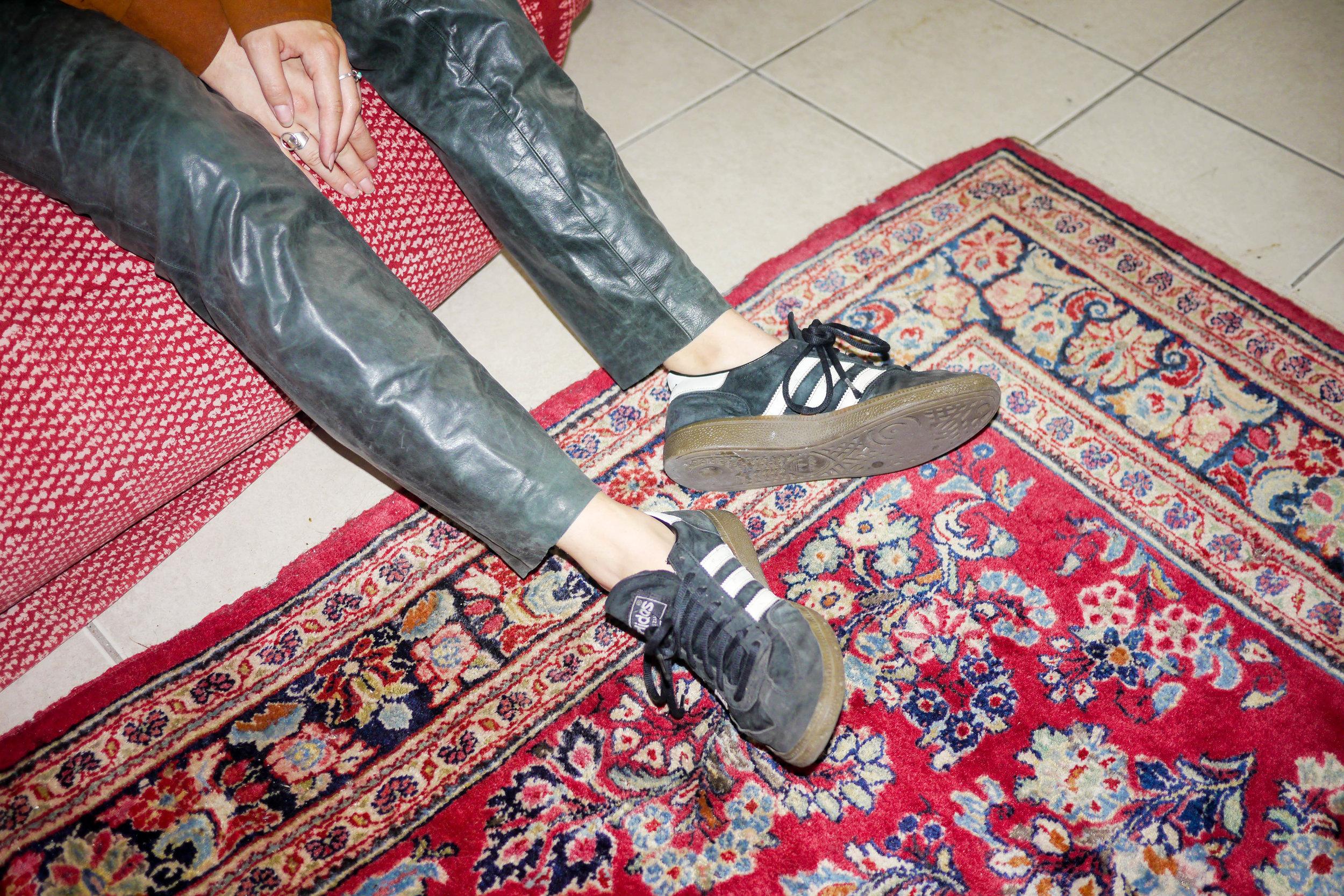 Outfit Details:    Pants   , Vintage ;    Shoes   , Adidas
