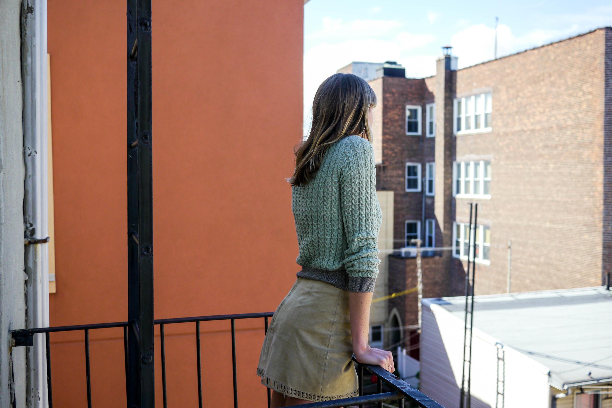 Outfit Details: Top, Zara ; Skirt, Danier