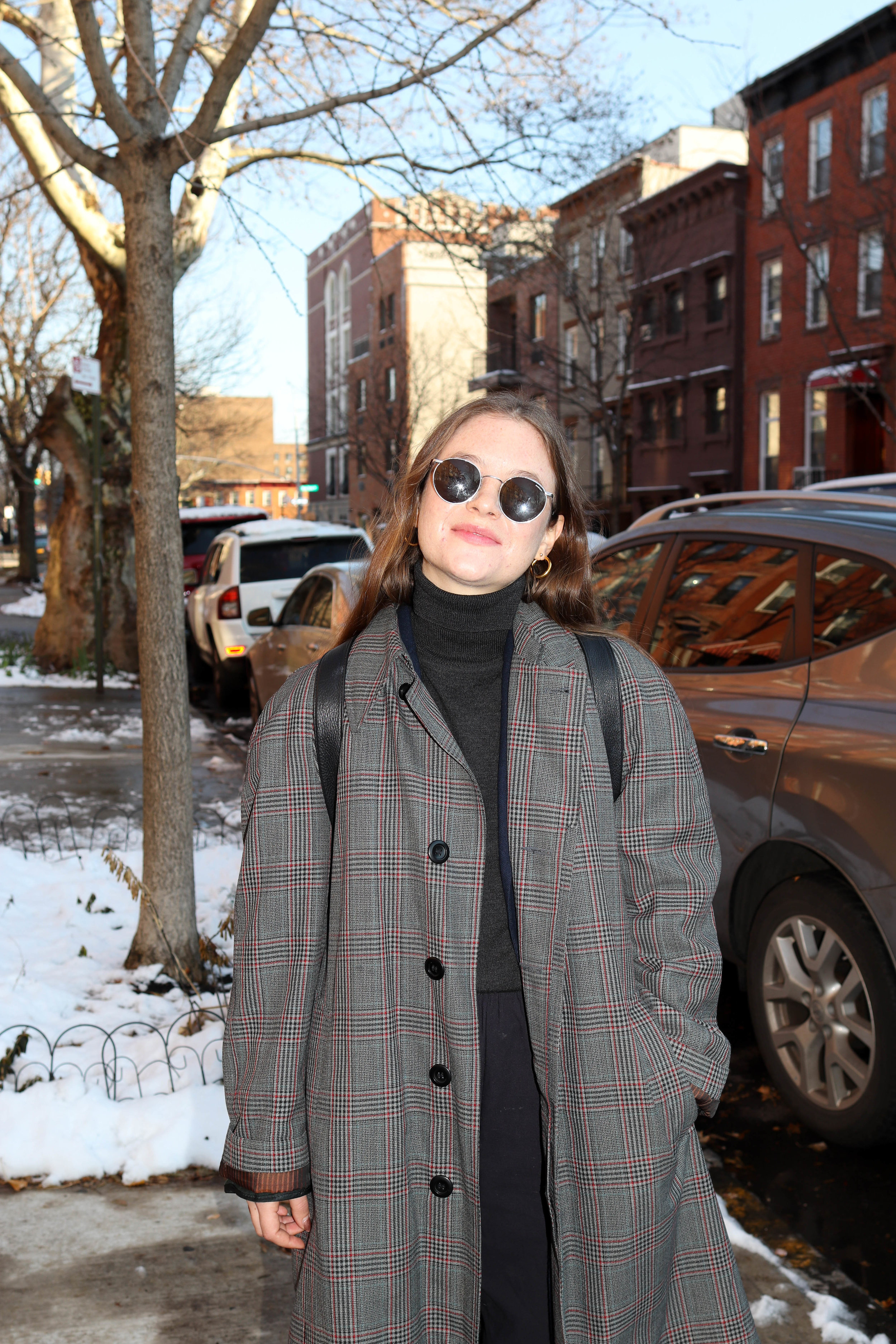 Coat: London Fog, Pants: Vintage, Top:    Banana Republic   , Sunglasses:    Randolph Engineering