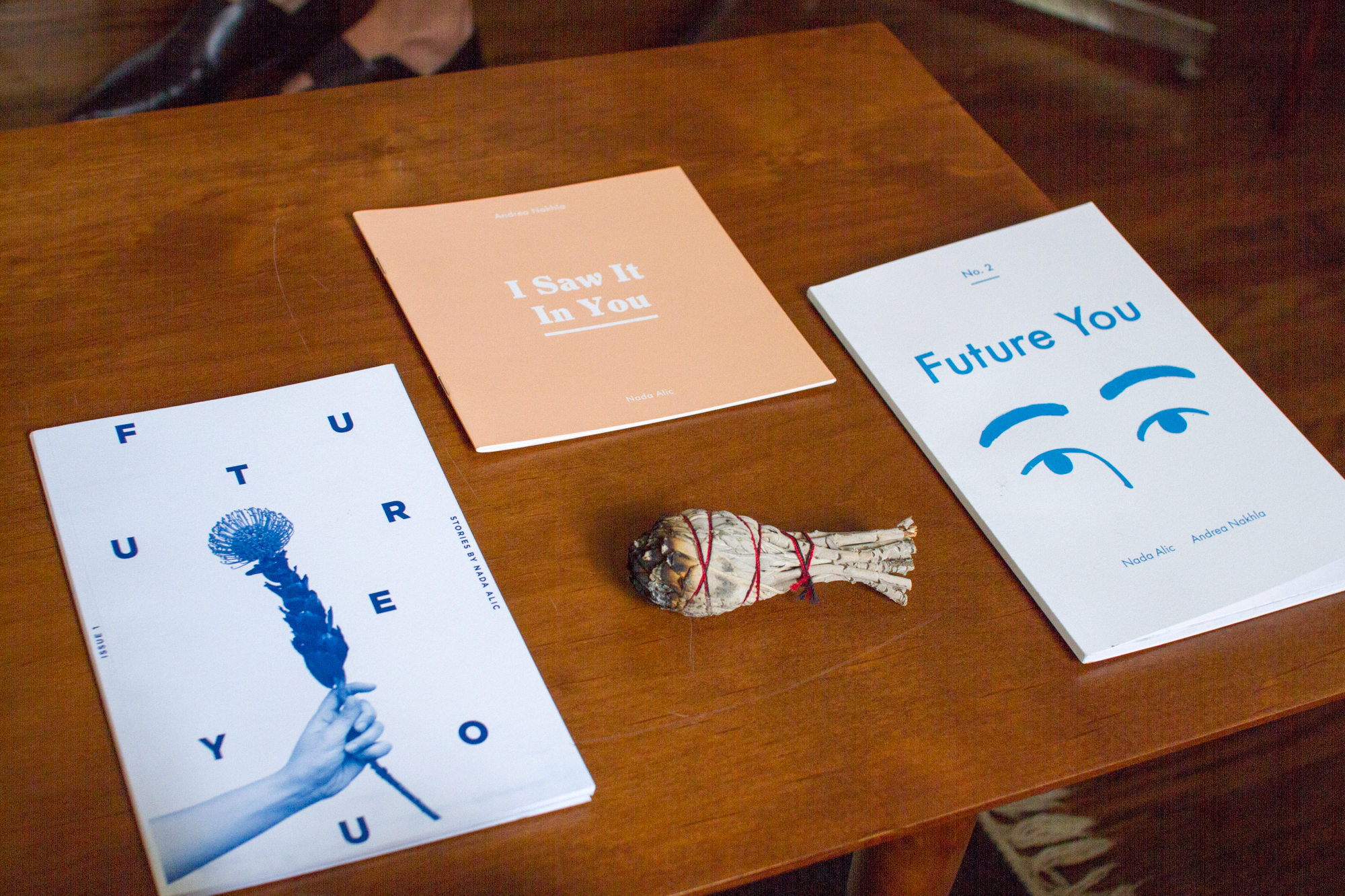 I Saw It In You by Andrea Nakhla with Prose by Nada Alic;    Future You and Future You No. 2    by Nada Alic
