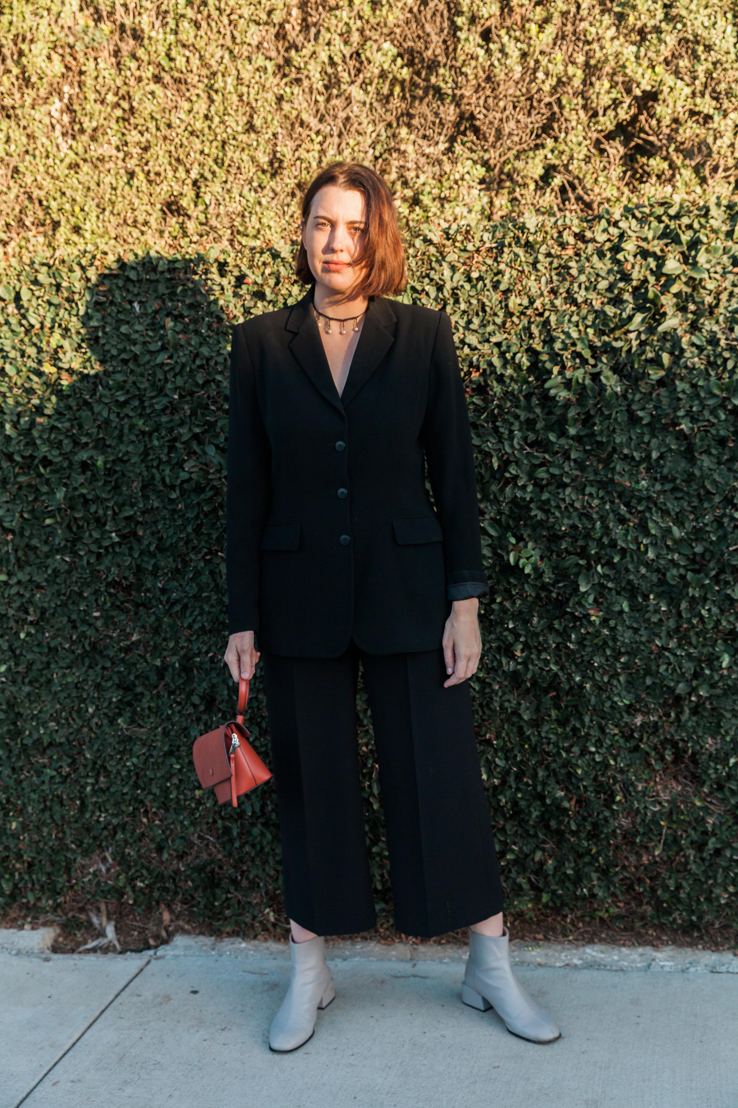 Top: Vintage, Pants: Zara, Boots: Oak + Fort