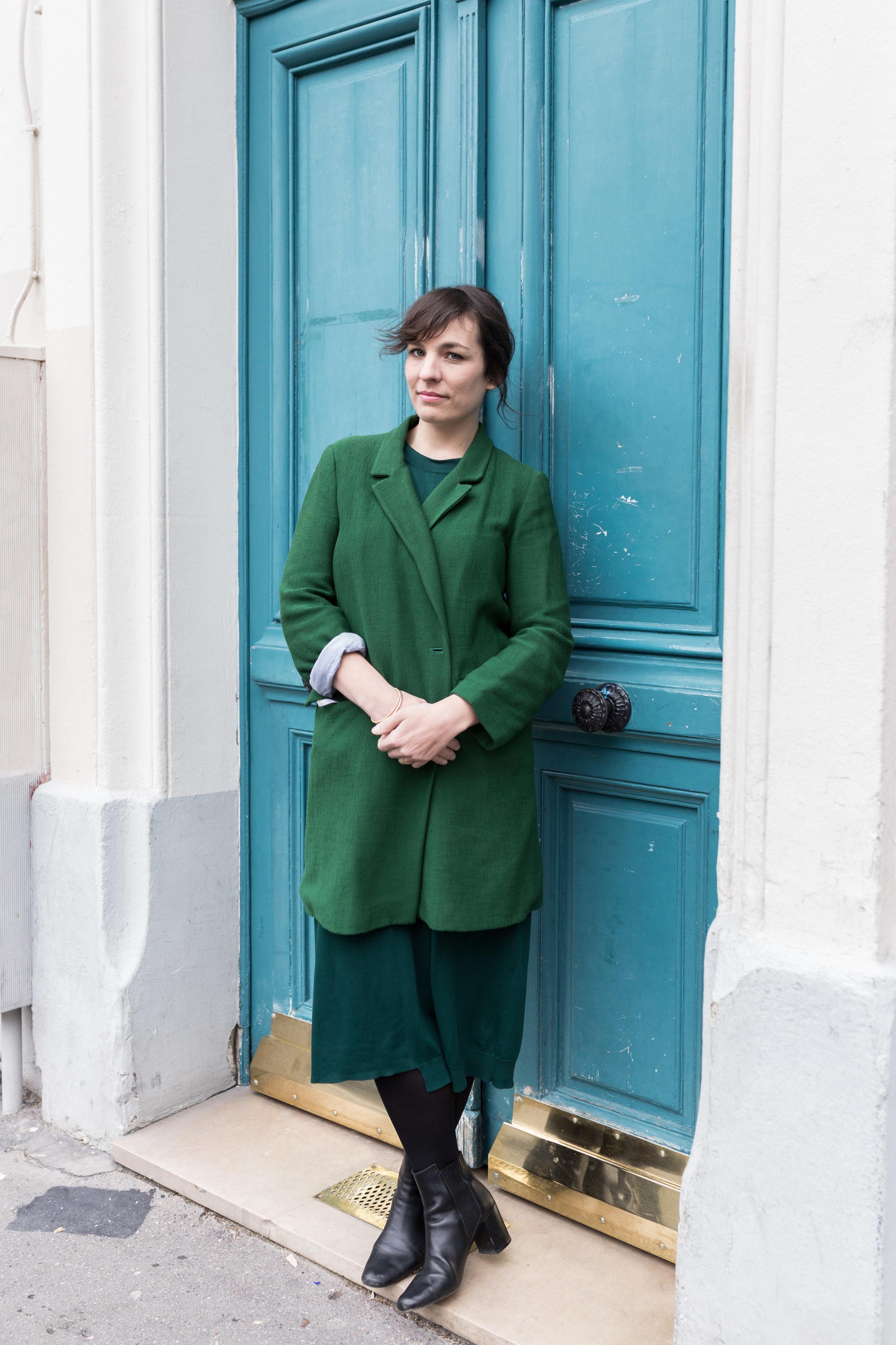 Coat: Zara, Dress: COS
