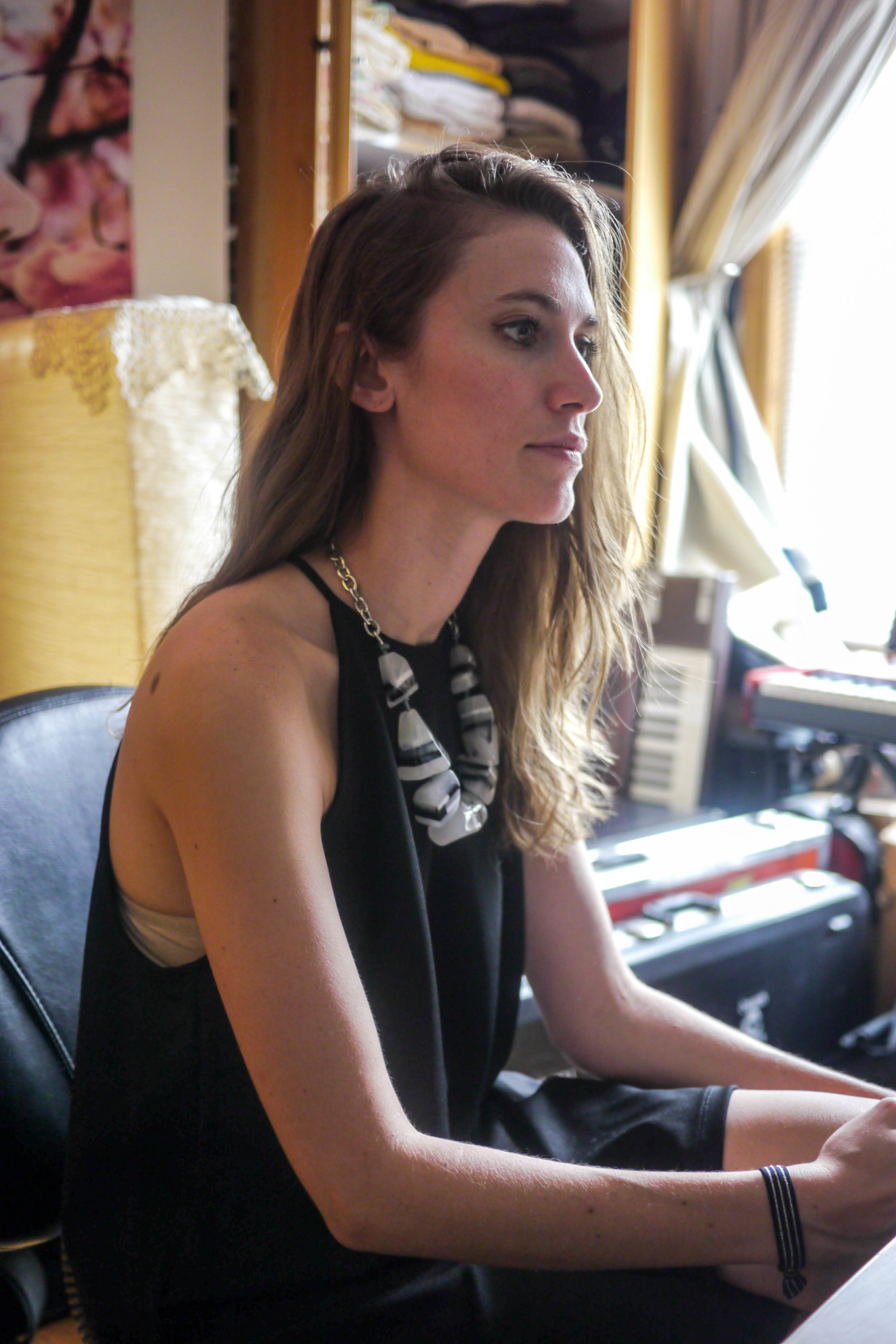 Dress: Zara, Necklace: Alter