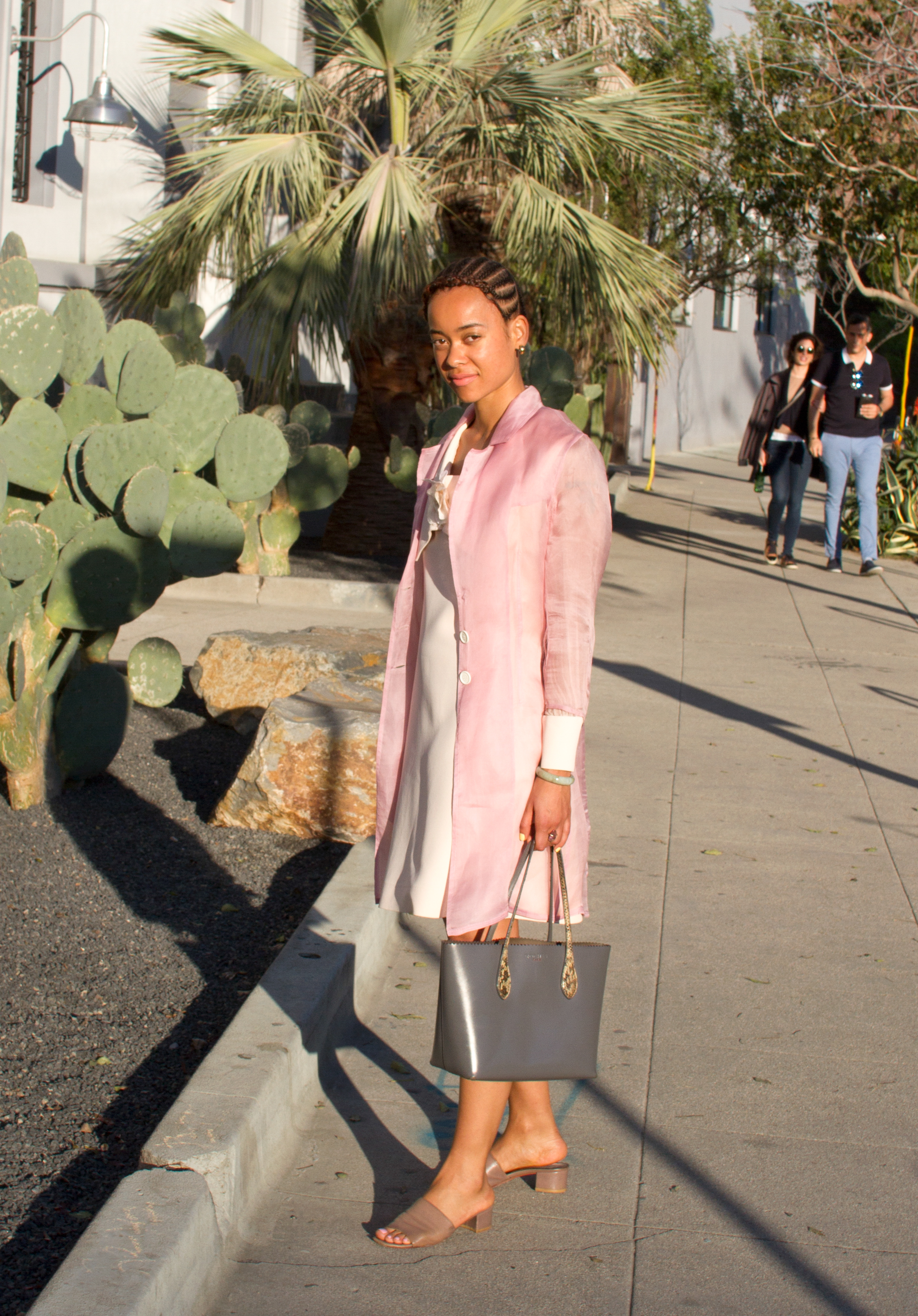 Dress & Jacket, vintage ; Shoes,    Maryam Nassir Zadeh