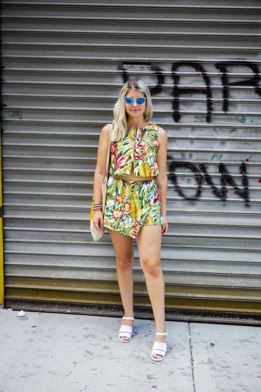 Top & Shorts: CLOTHES   ,    Shoes: American Apparel   , Bag:Ganni,    Sunglasses: Smoke & Mirrors