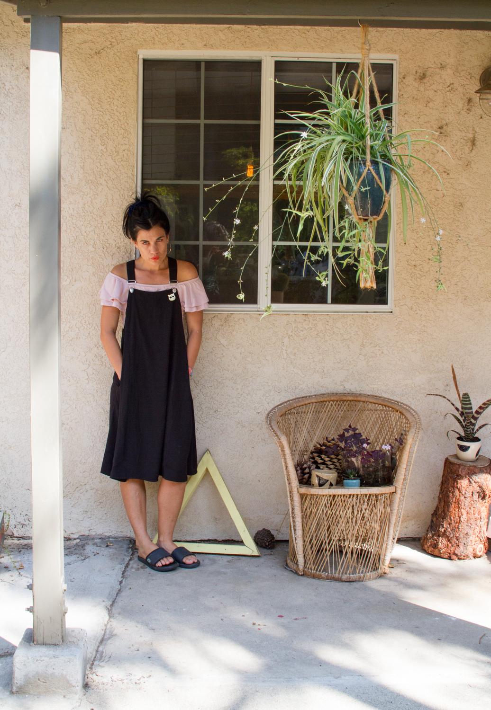 Shirt:    Topshop   , Dress: Monki, Sandals:    Lacoste