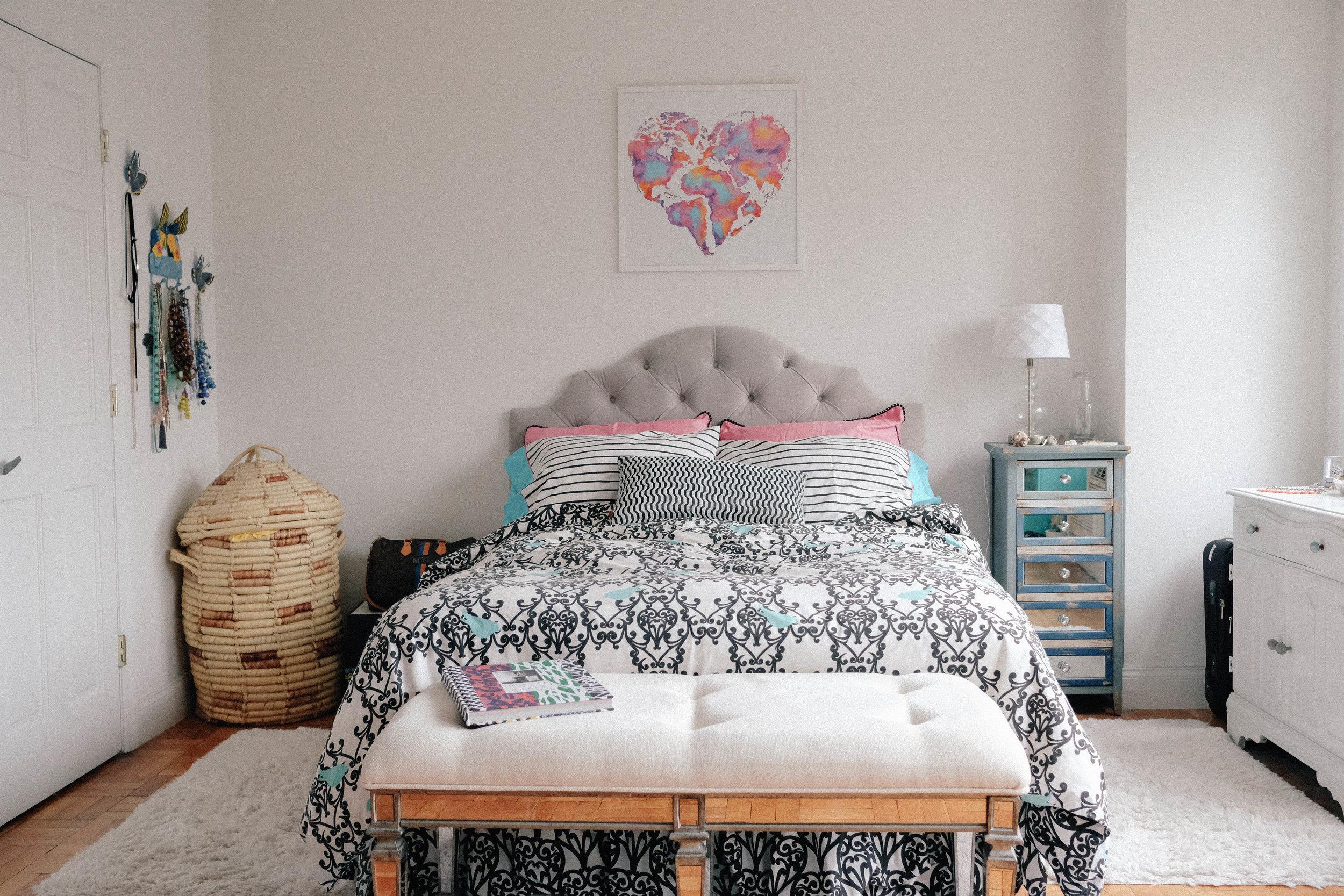 Artwork over the bed,    Niki Pilkington