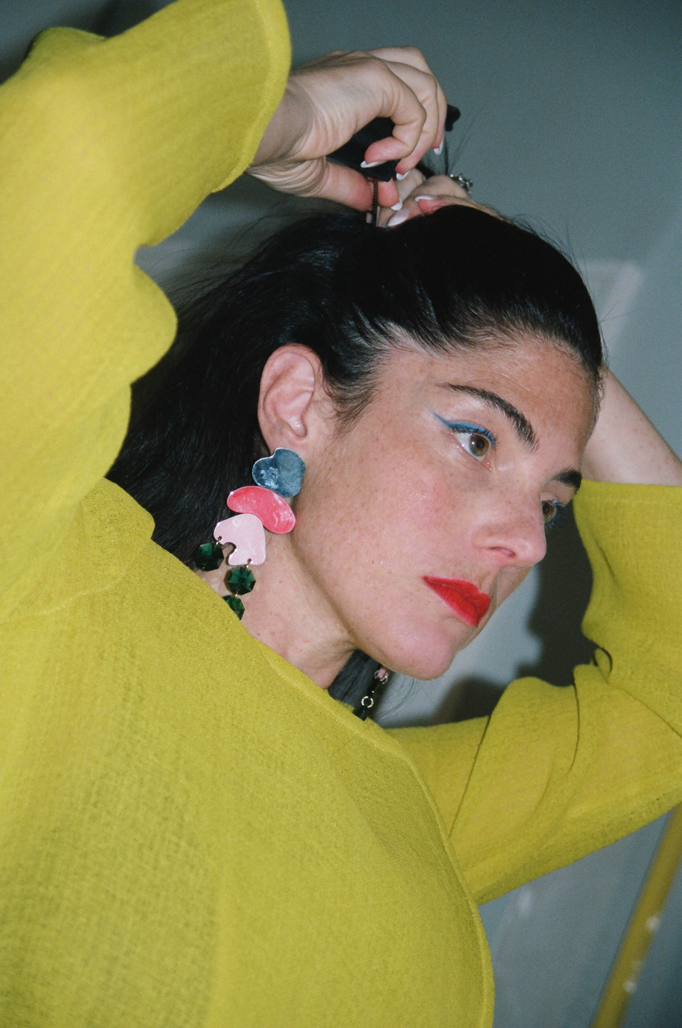 Trench, Trademark; Earrings, Melody Ehsani