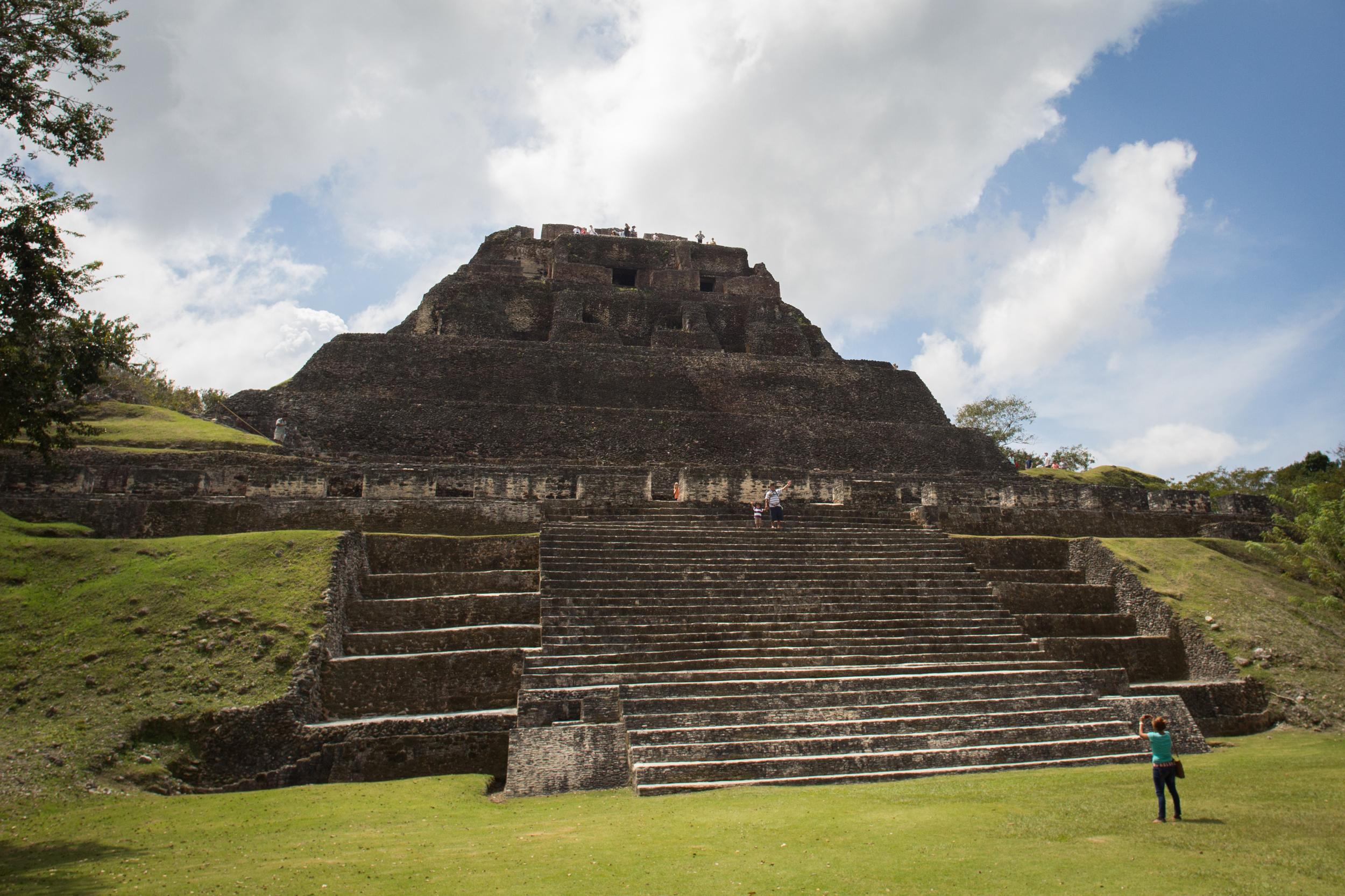 Xunantunich: El Castillo from the North side