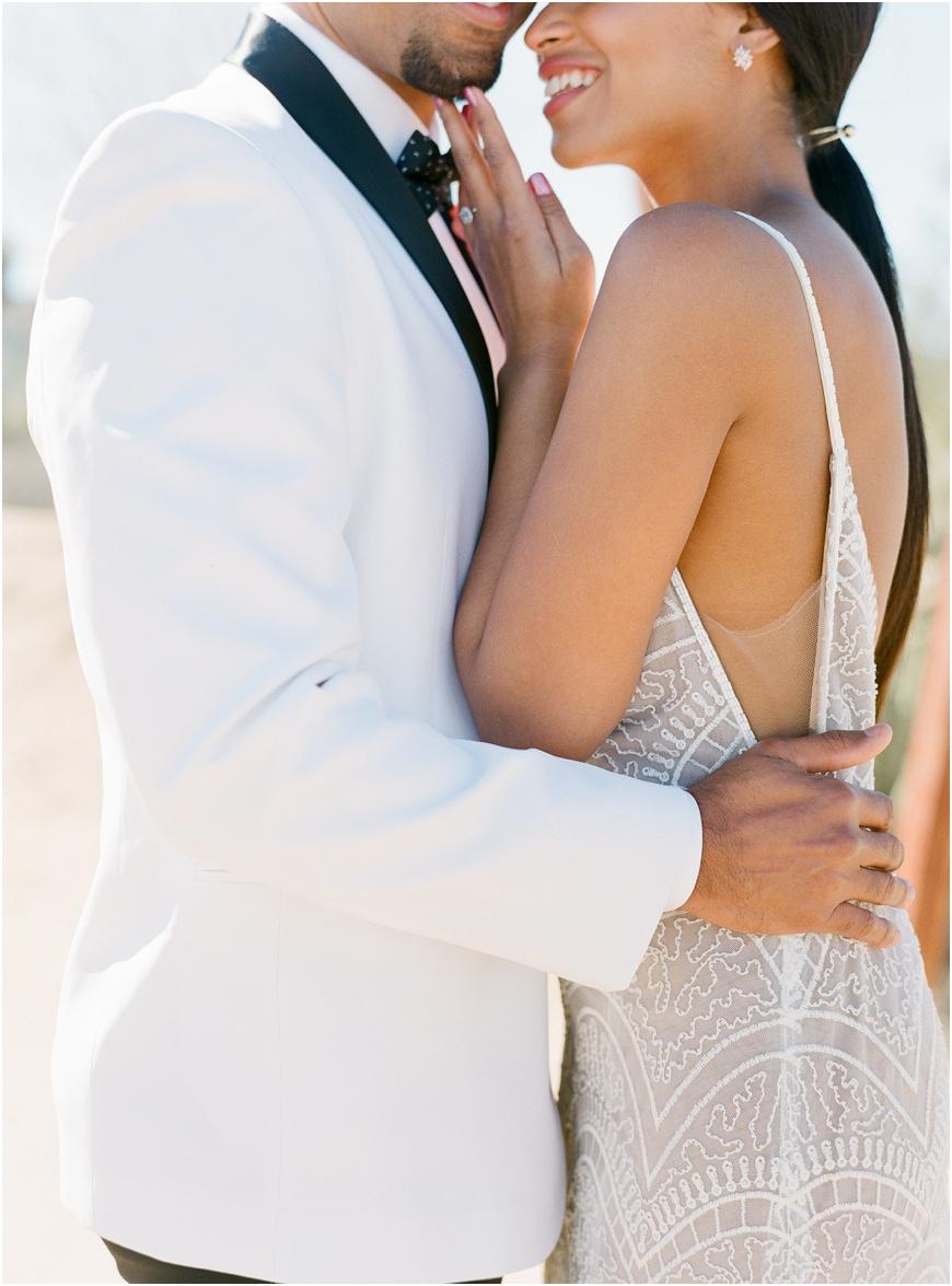 White tux elopement