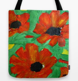 Tote bag by Society6.  Printed on both sides.  Click photo for more information.