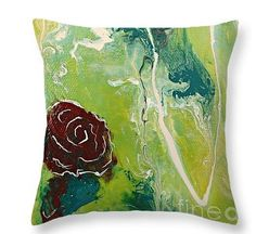 Two Wandering Roses pillow by Mary Mirabal