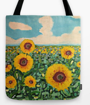 Sunflower Serendipity tote bag.  Click on the photo for sizes and availability.