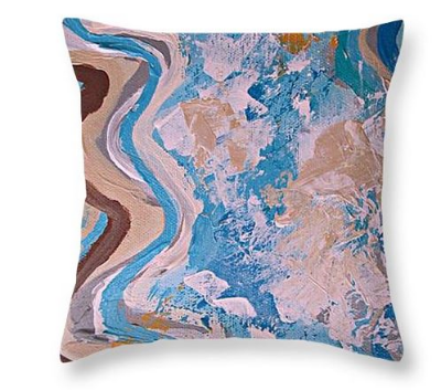 Sun,  Sand and Sea Glass throw pillow by  Fine Art America   For more information on this and other pillow designs simply  click the pillow photo to visit my Fine Art America shop.