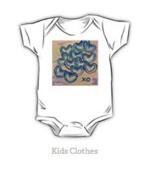 They come in sizes 3-24 months and 10 colors.  Also available through  RedBubble .