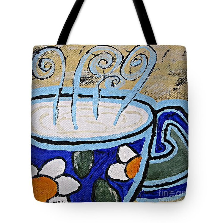 Coffee Cup Tote bag, printed on both sides