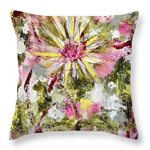 Daisies on Parade no. 1 throw pillow