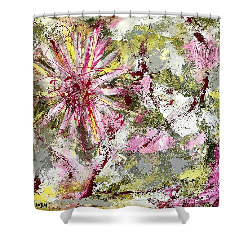 Daisies On Parade no. 2 shower curtain